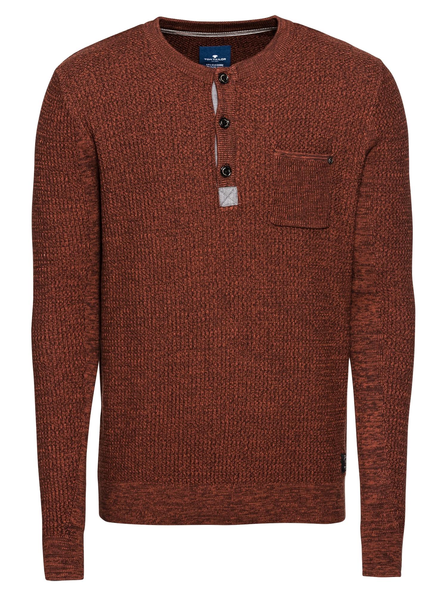 Svetr structured mouline sweater Pullover 11 červená TOM TAILOR