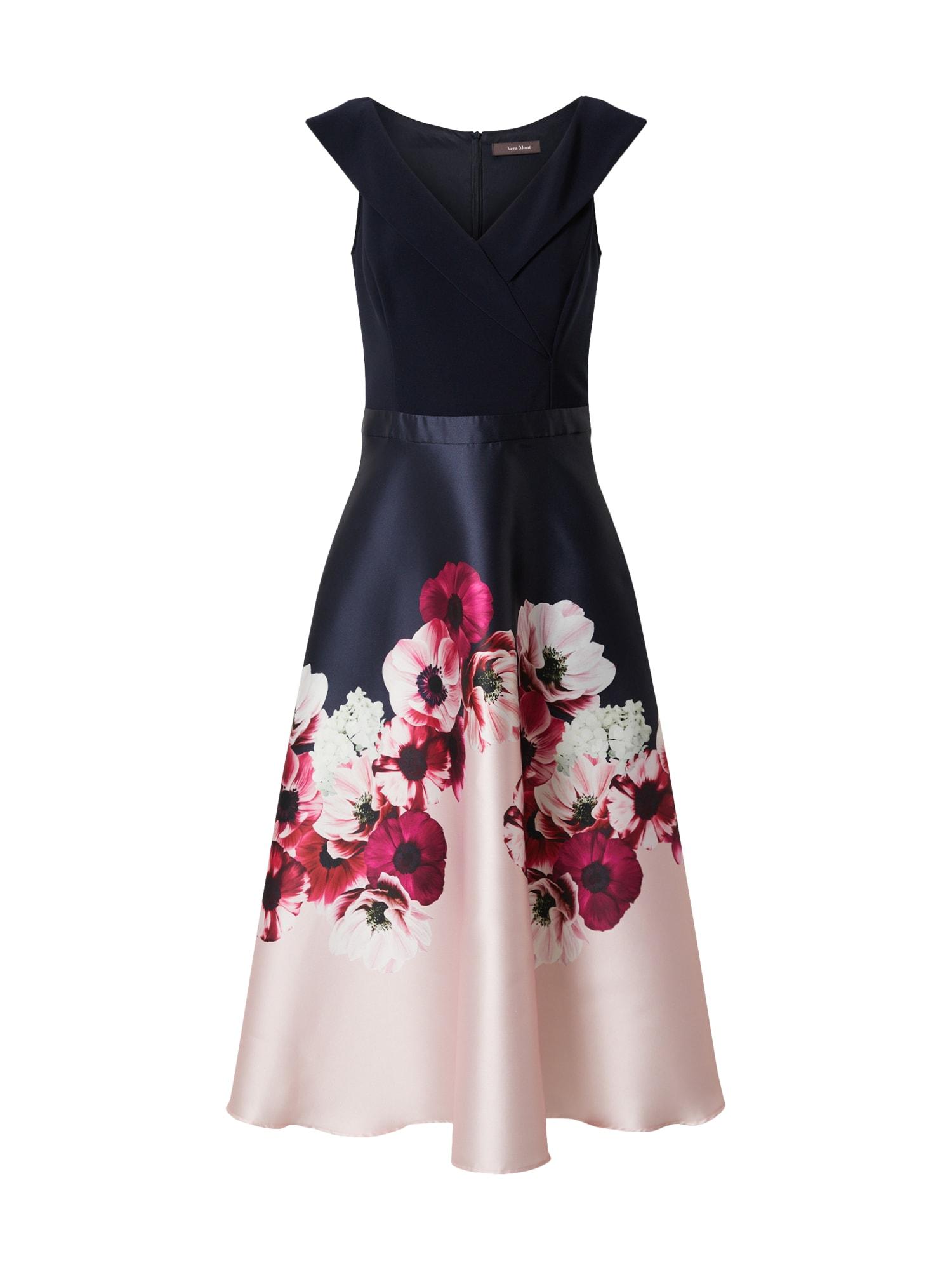 Vera Mont Vakarinė suknelė mėlyna / rožinė / balta / rausvai raudona