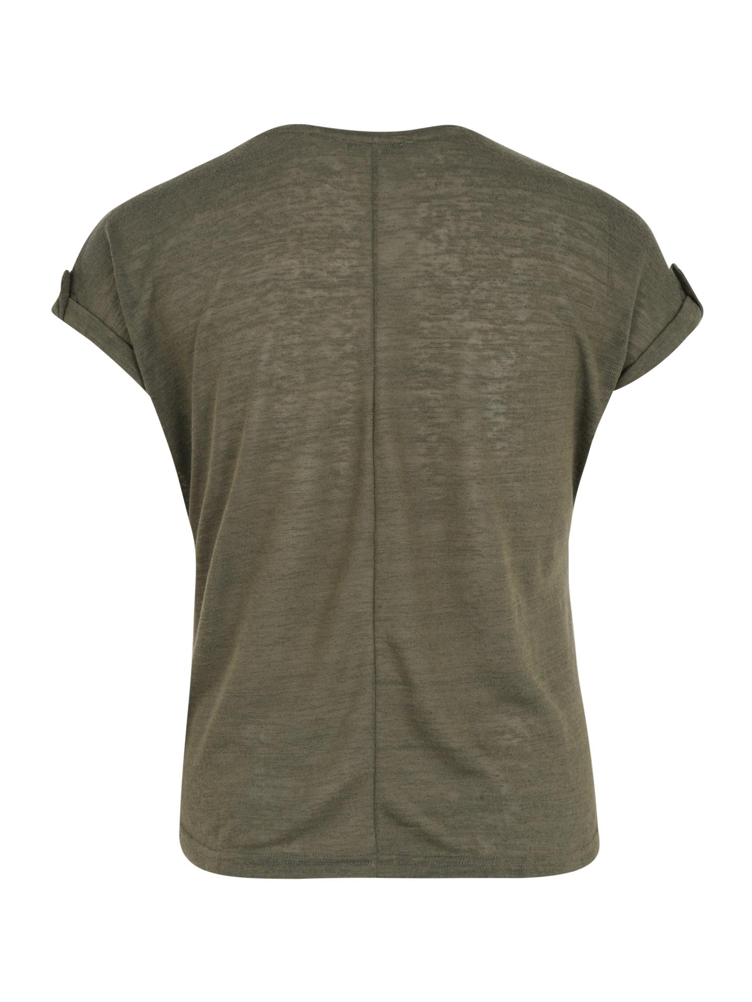 ABOUT YOU Curvy T-shirt 'Kaili Shirt'  grön / khaki / mörkgrön