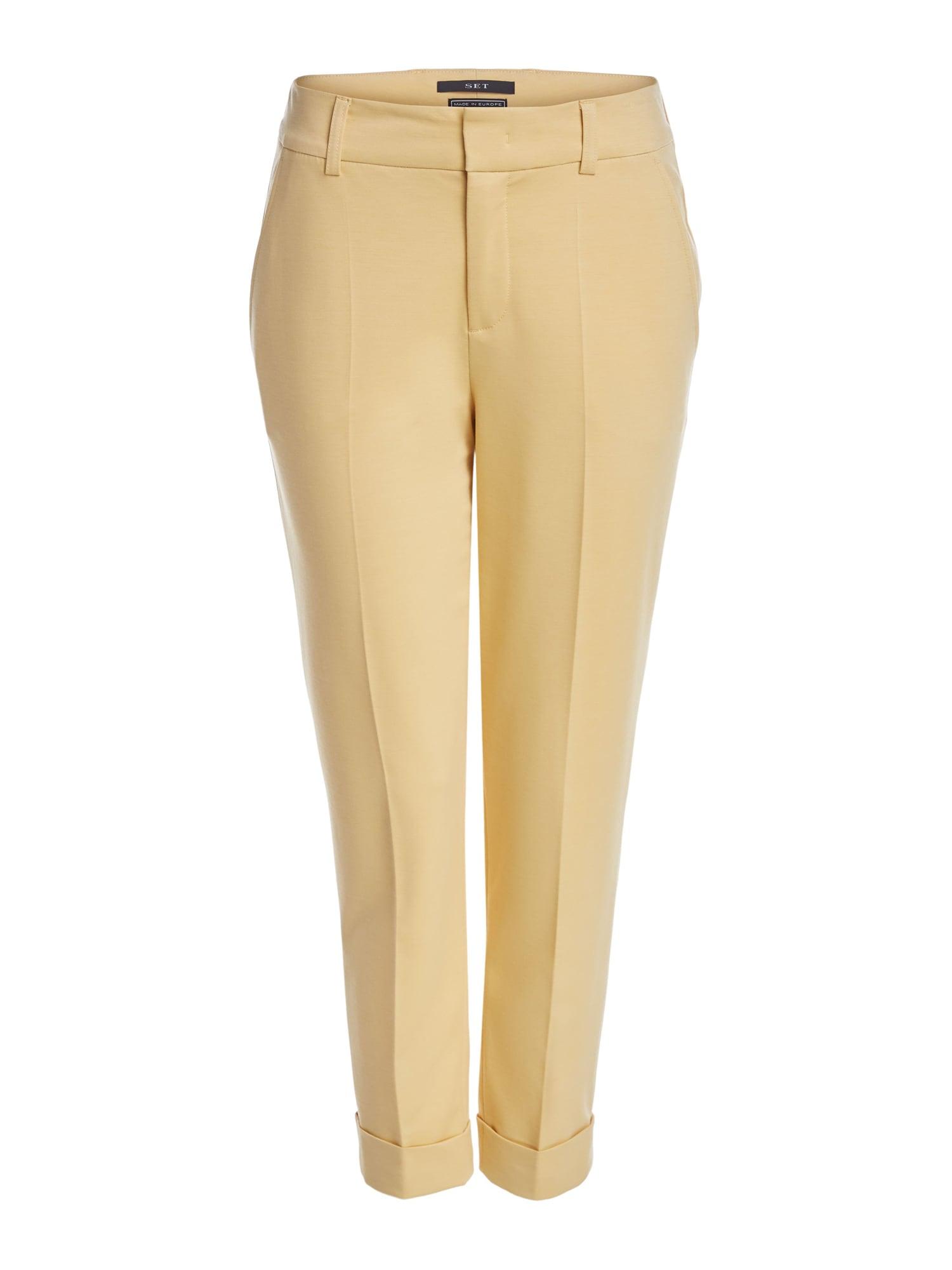 SET Kelnės su kantu geltona