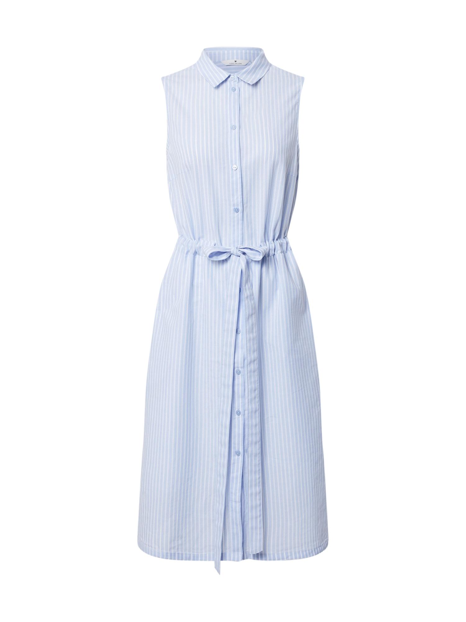 TOM TAILOR Košeľové šaty  svetlomodrá