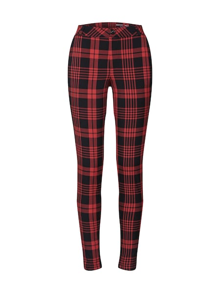Hosen für Frauen - Hose 'NMTRIBECA NW SLIM CHECK PANTS' › Noisy May › rostrot schwarz  - Onlineshop ABOUT YOU