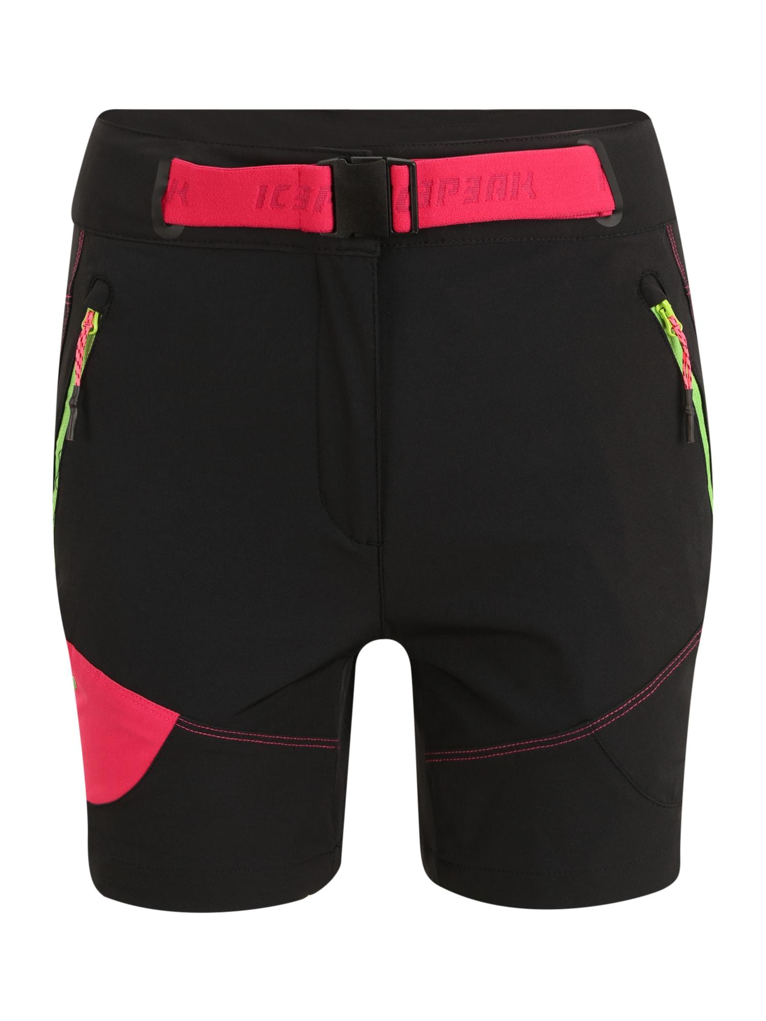 ICEPEAK Sportinės kelnės antracito / raudona