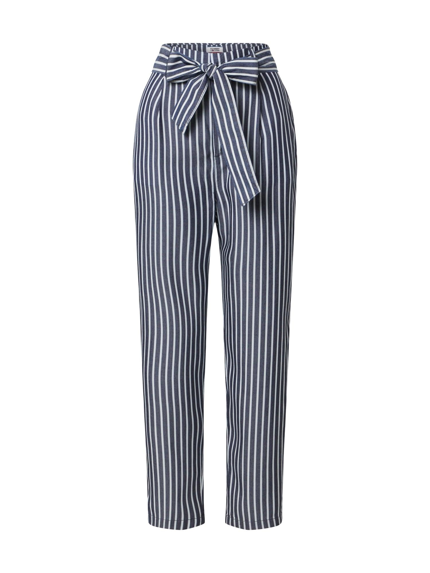 Tommy Jeans Nadrág 'TJW FLUID BOW DETAIL PANT'  fehér / tengerészkék