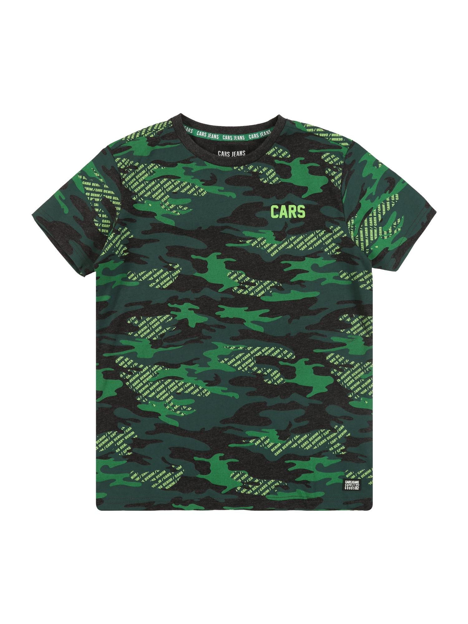 Cars Jeans Marškinėliai juoda / žalia