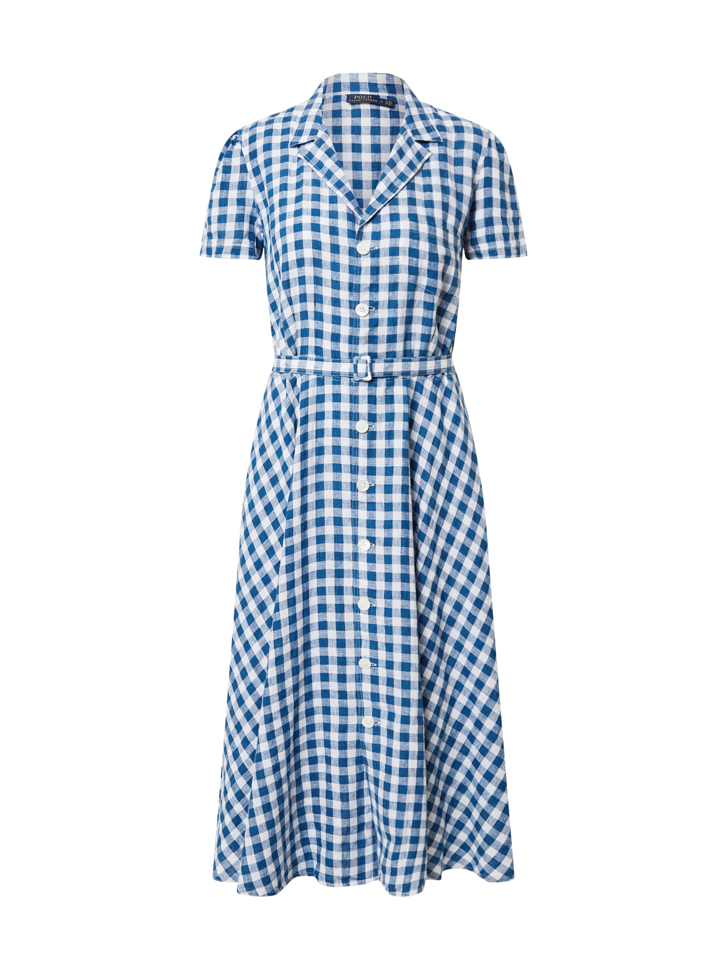 POLO RALPH LAUREN Košeľové šaty 'SS HMPTON DR-SHORT SLEEVE-CASUAL DRESS'  biela / svetlomodrá
