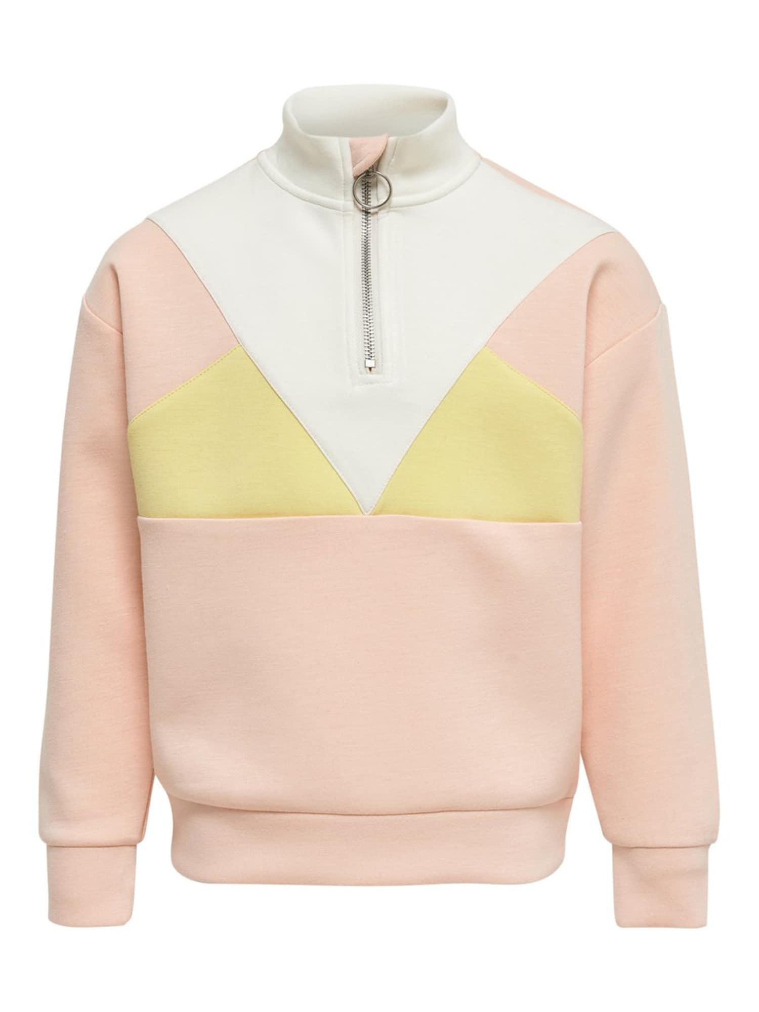 KIDS ONLY Megztinis be užsegimo balta / geltona / persikų spalva