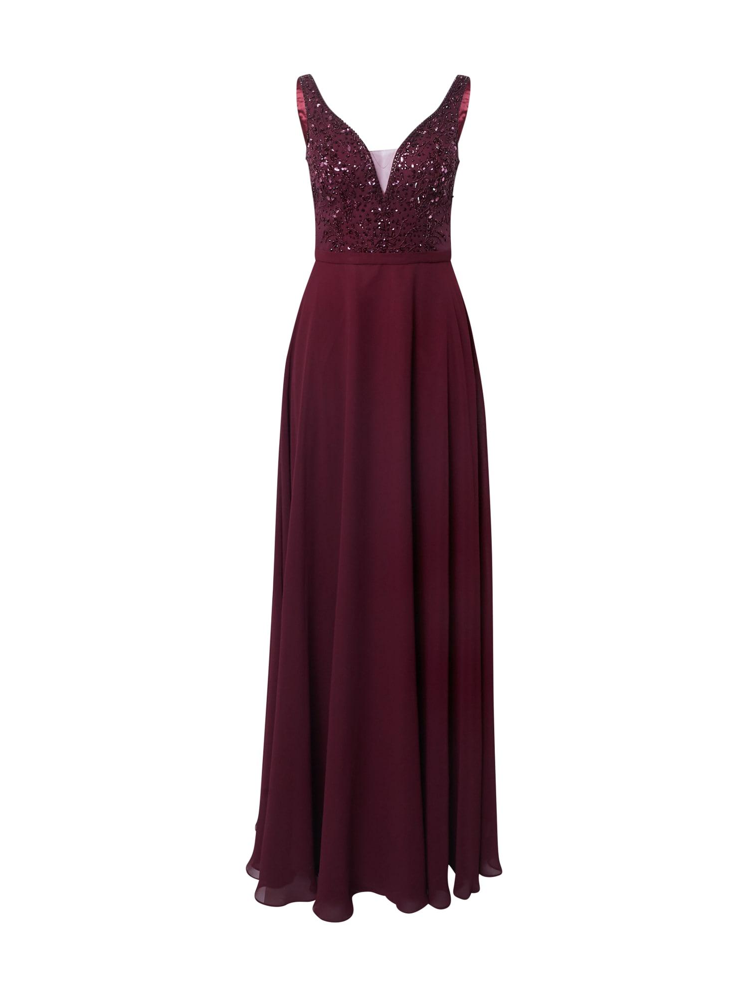 Unique Vakarinė suknelė vyno raudona spalva