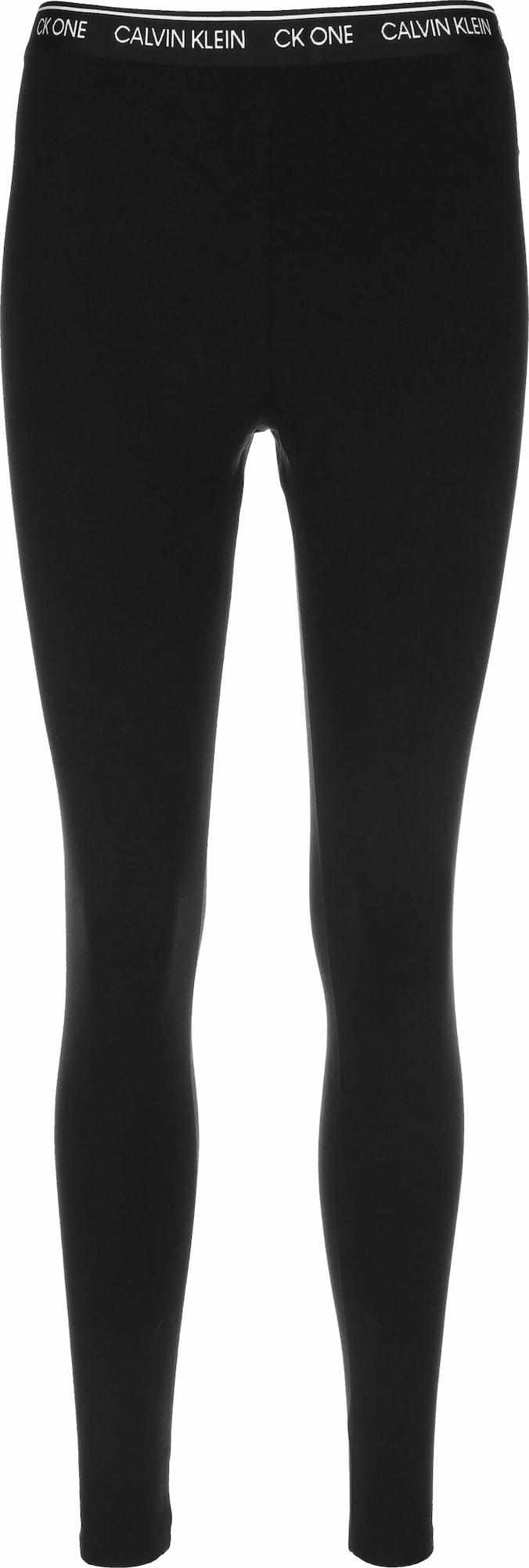 Calvin Klein Underwear Pižaminės kelnės balta / juoda