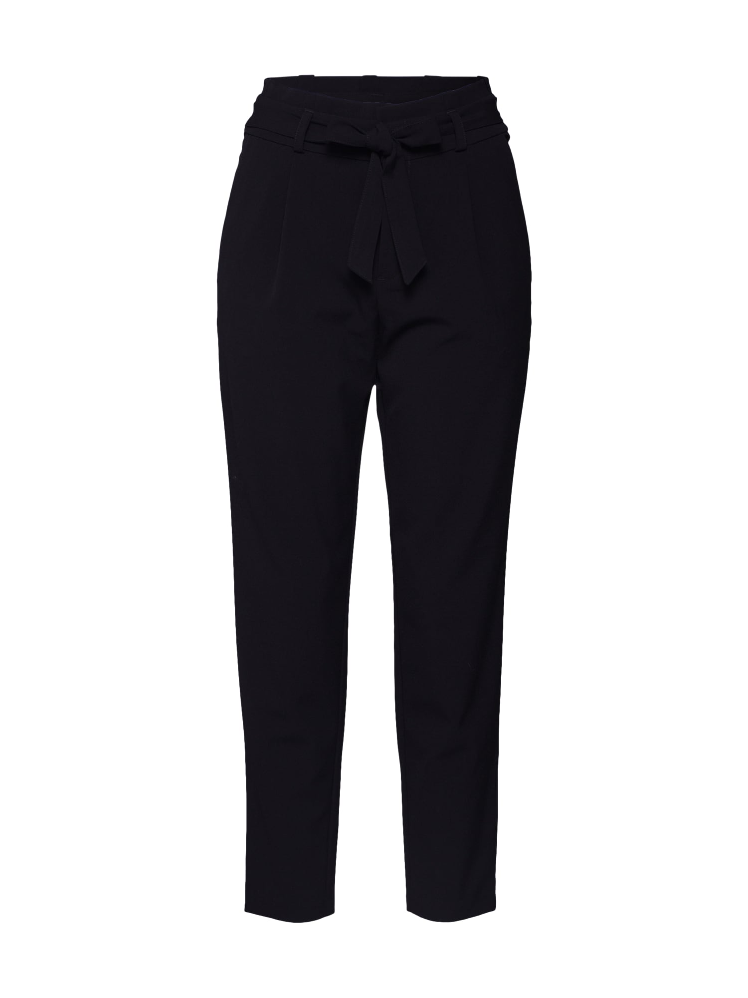 TOM TAILOR DENIM Plisované nohavice 'Paperbag'  čierna
