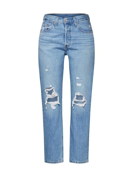 Hosen für Frauen - LEVI'S Jeans '501® CROP' blue denim  - Onlineshop ABOUT YOU