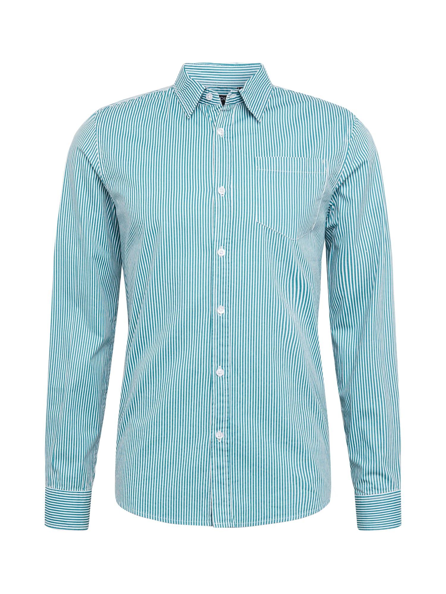 BRAVE SOUL Dalykiniai marškiniai 'KARMORY' balta / žalia