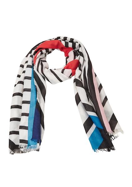 Schals für Frauen - S.Oliver RED LABEL Schal blau rosa feuerrot schwarz weiß  - Onlineshop ABOUT YOU