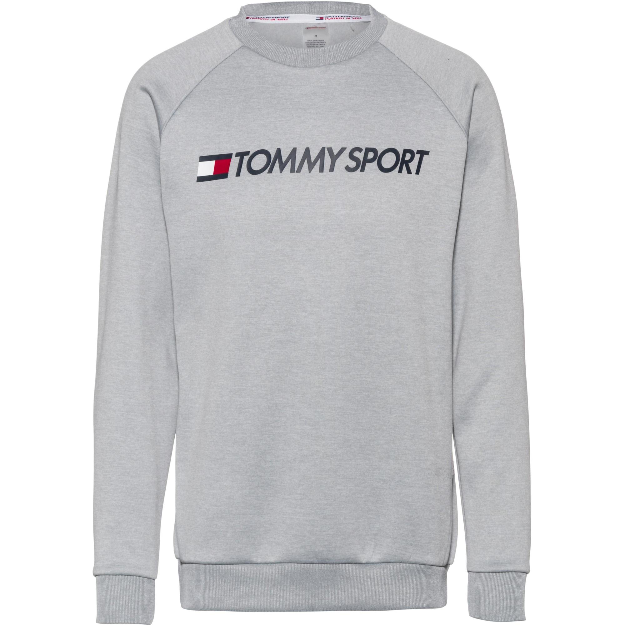 Tommy Sport Sportovní mikina 'FLEECE LOGO CREW NECK'  šedá