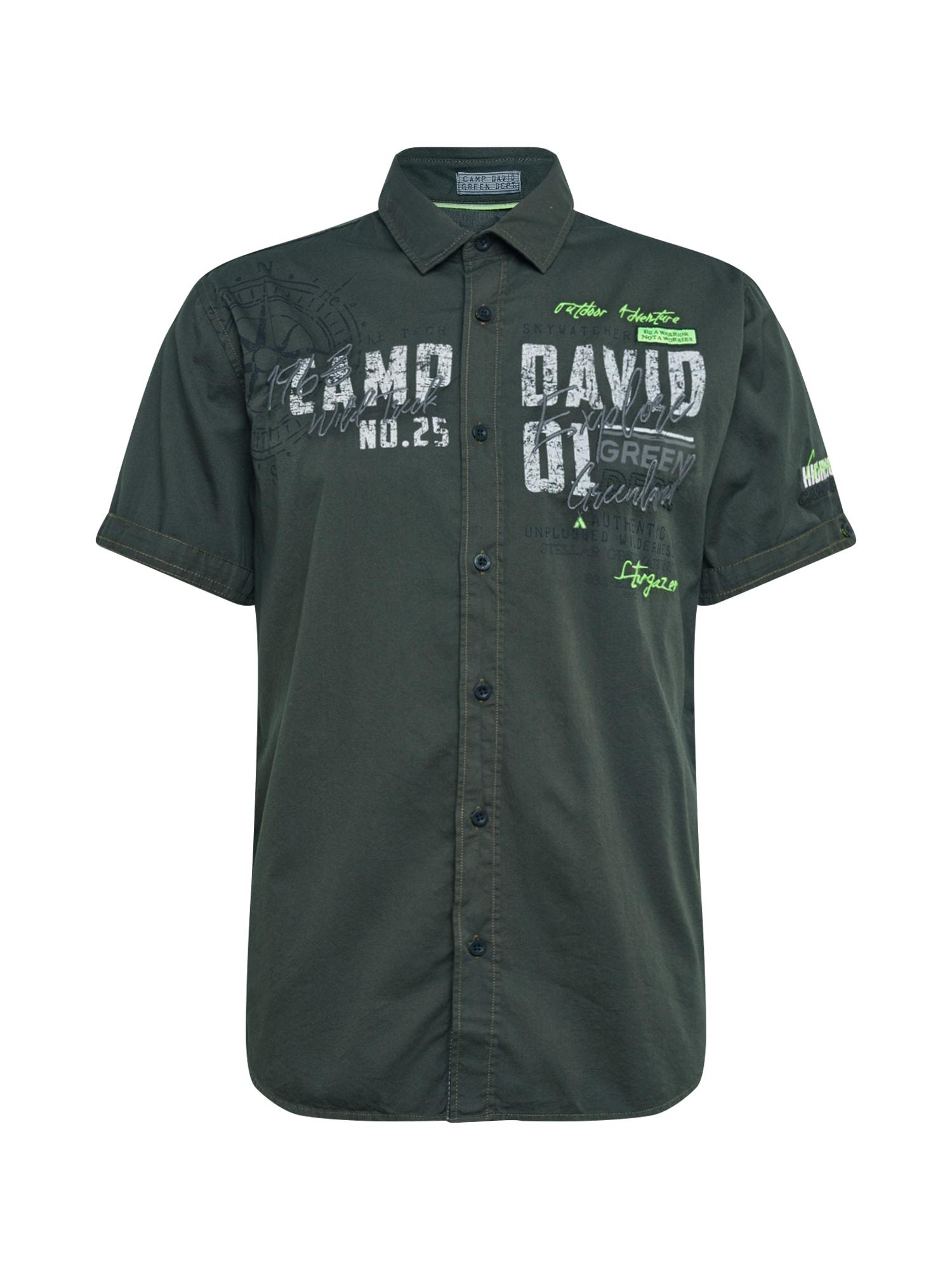 CAMP DAVID Marškiniai įdegio spalva / balta / obuolių spalva