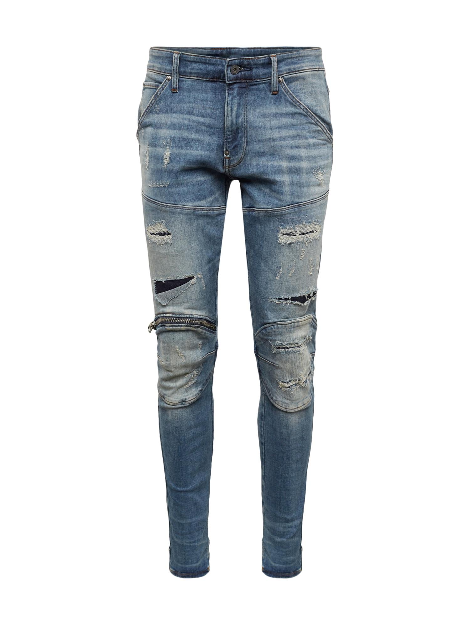 Džíny 5620 3D Zip Knee Super Slim modrá džínovina G-STAR RAW