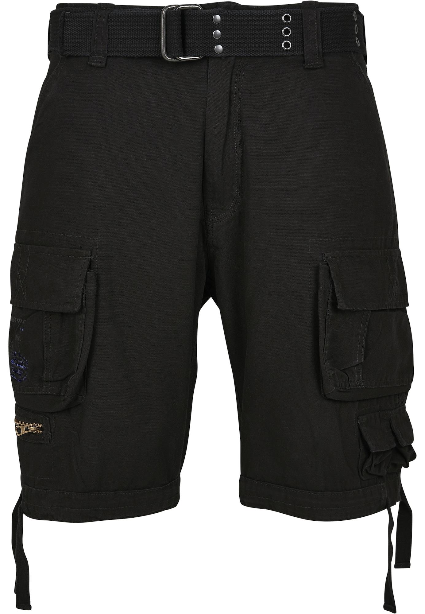 Brandit Laisvo stiliaus kelnės 'Savage' juoda