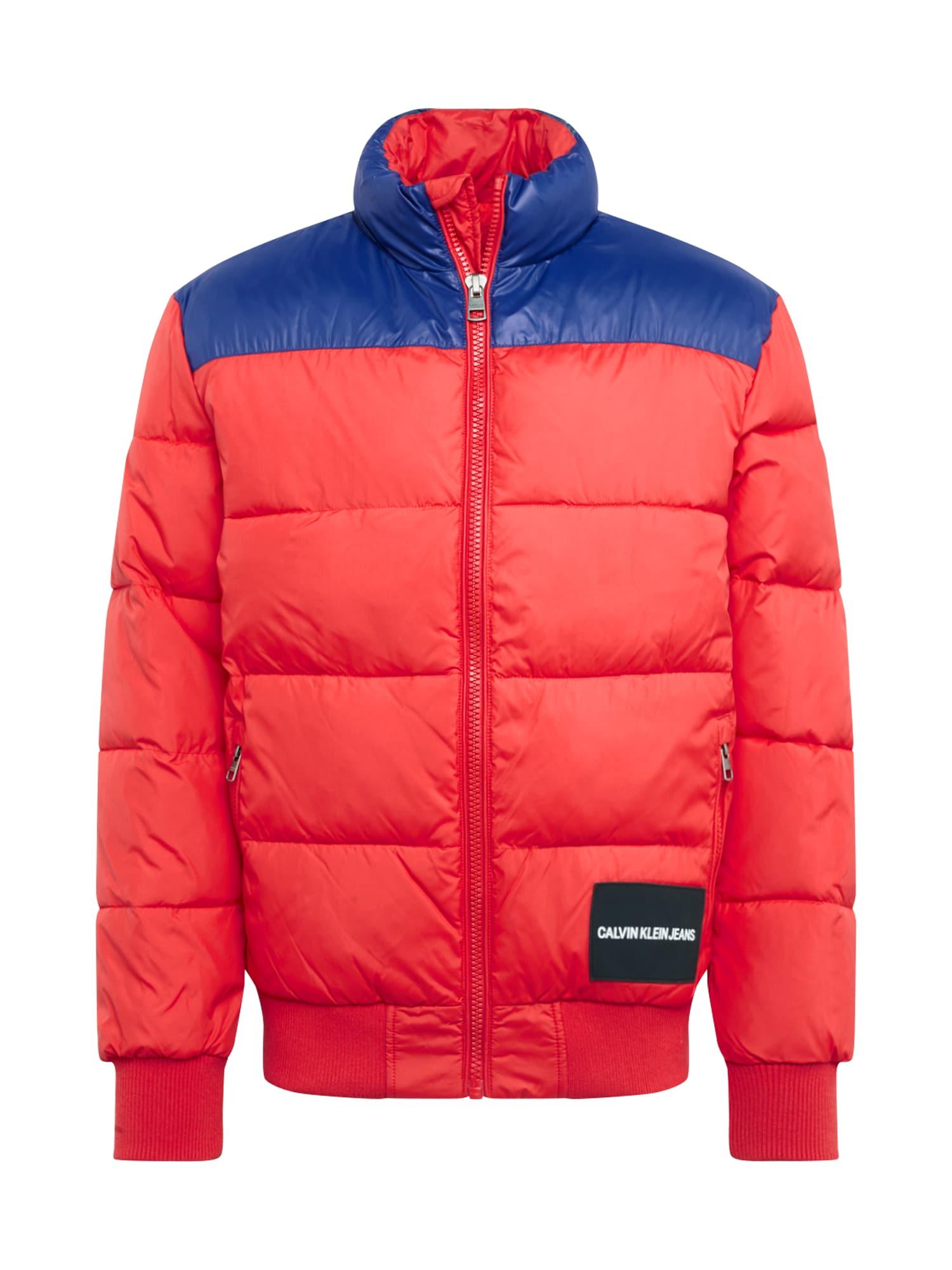 Calvin Klein Jeans Žieminė striukė 'PADDED WESTERN' tamsiai mėlyna / raudona