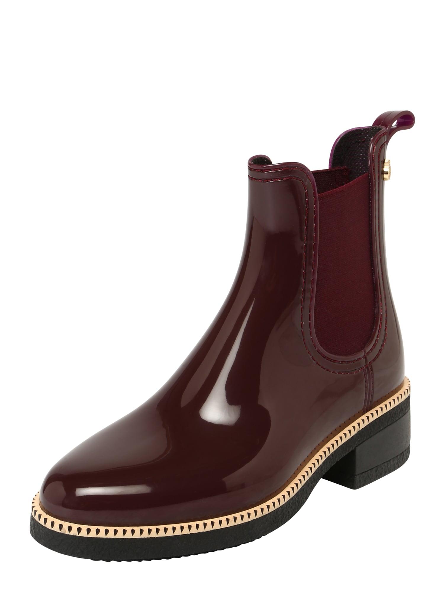 LEMON JELLY Guminiai batai 'AVA' vyno raudona spalva