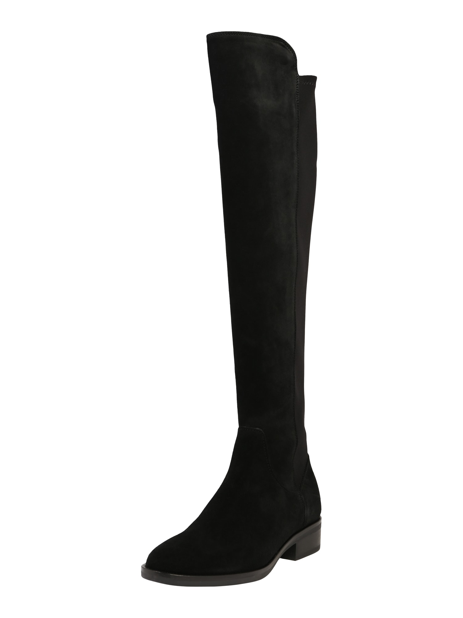 CLARKS Ilgaauliai batai virš kelių 'Pure Caddy' juoda