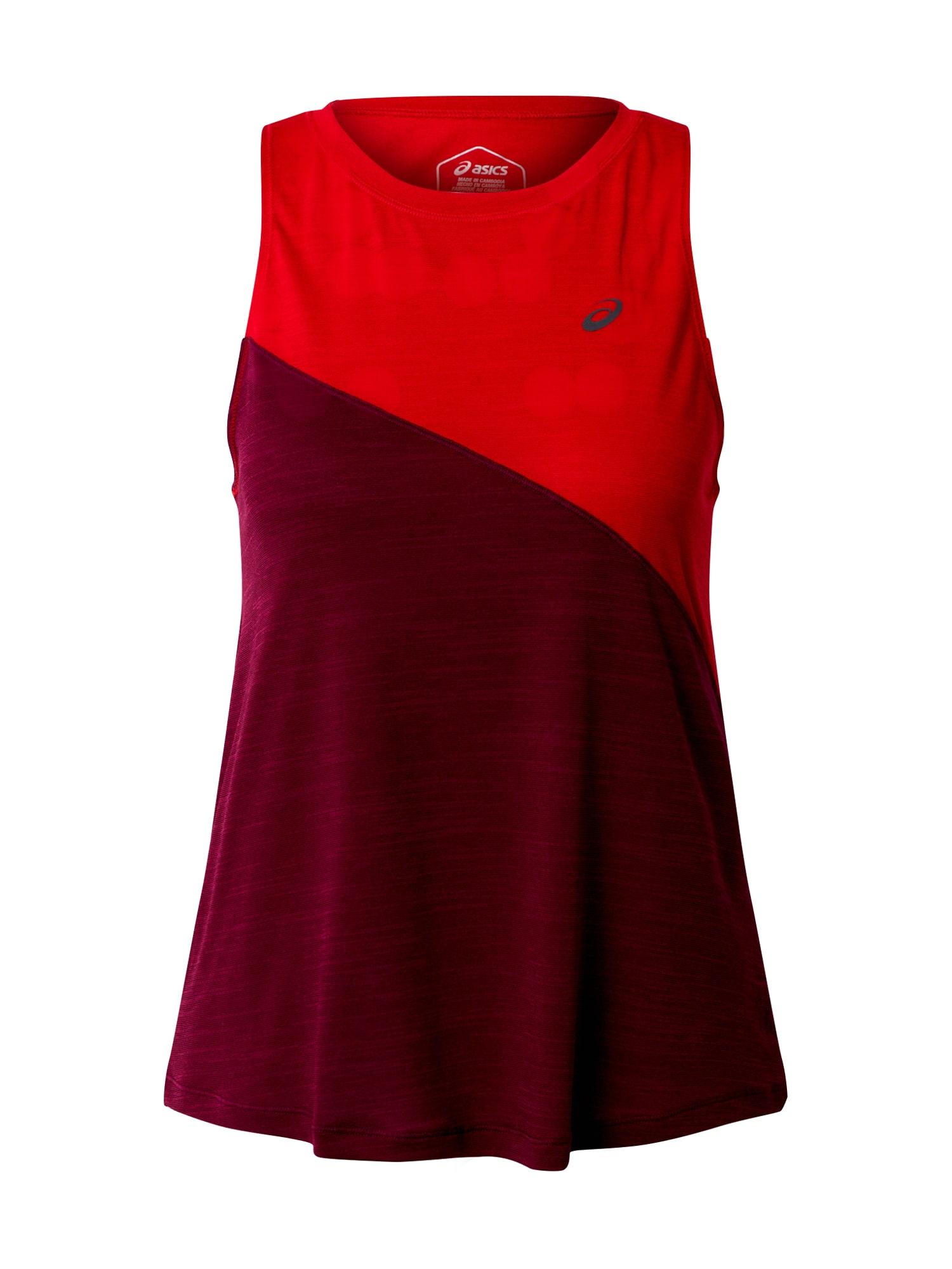 ASICS Funkčné tričko 'TOKYO'  burgundská / červené