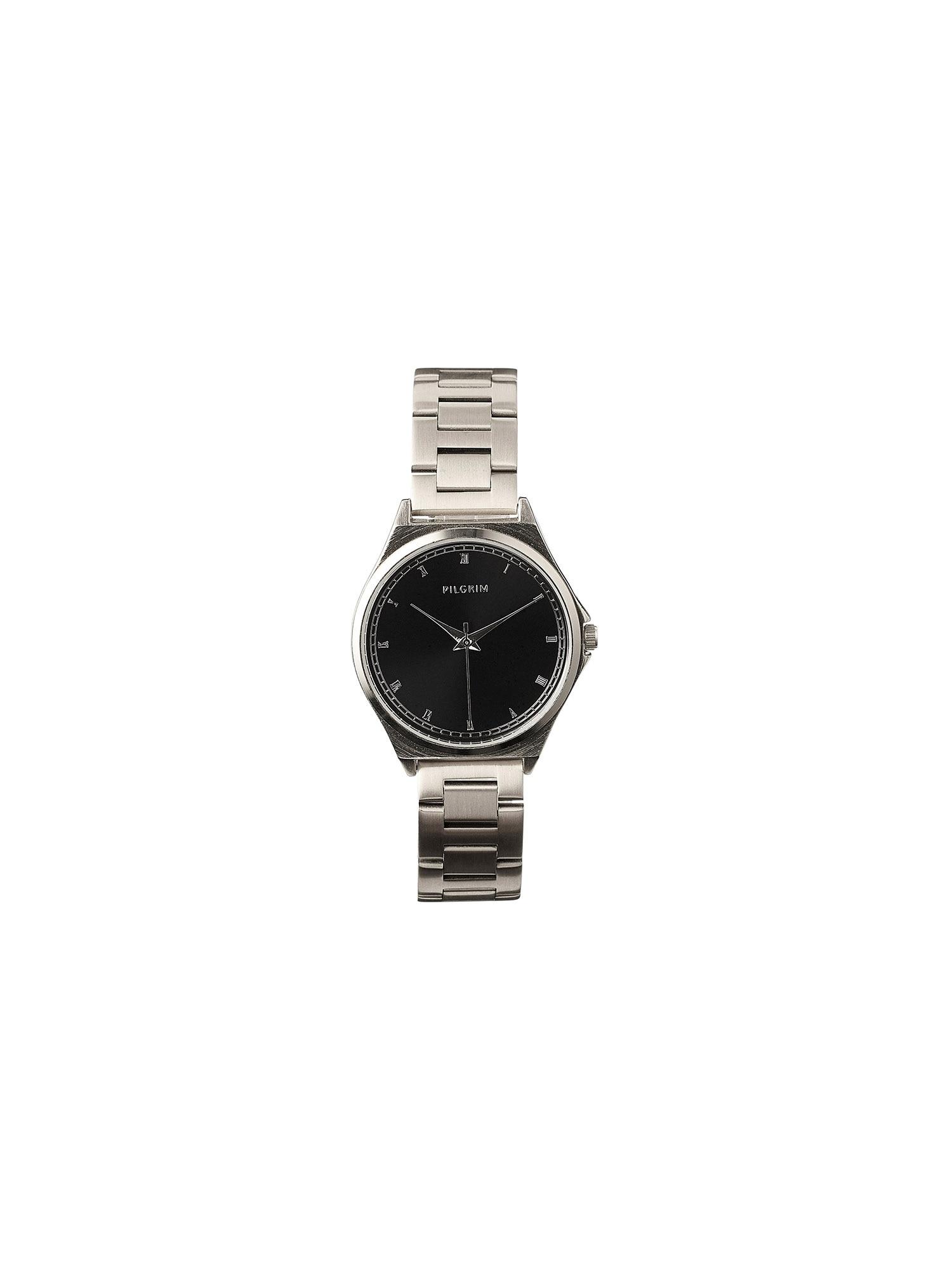 Pilgrim Analoginis (įprasto dizaino) laikrodis sidabrinė / juoda