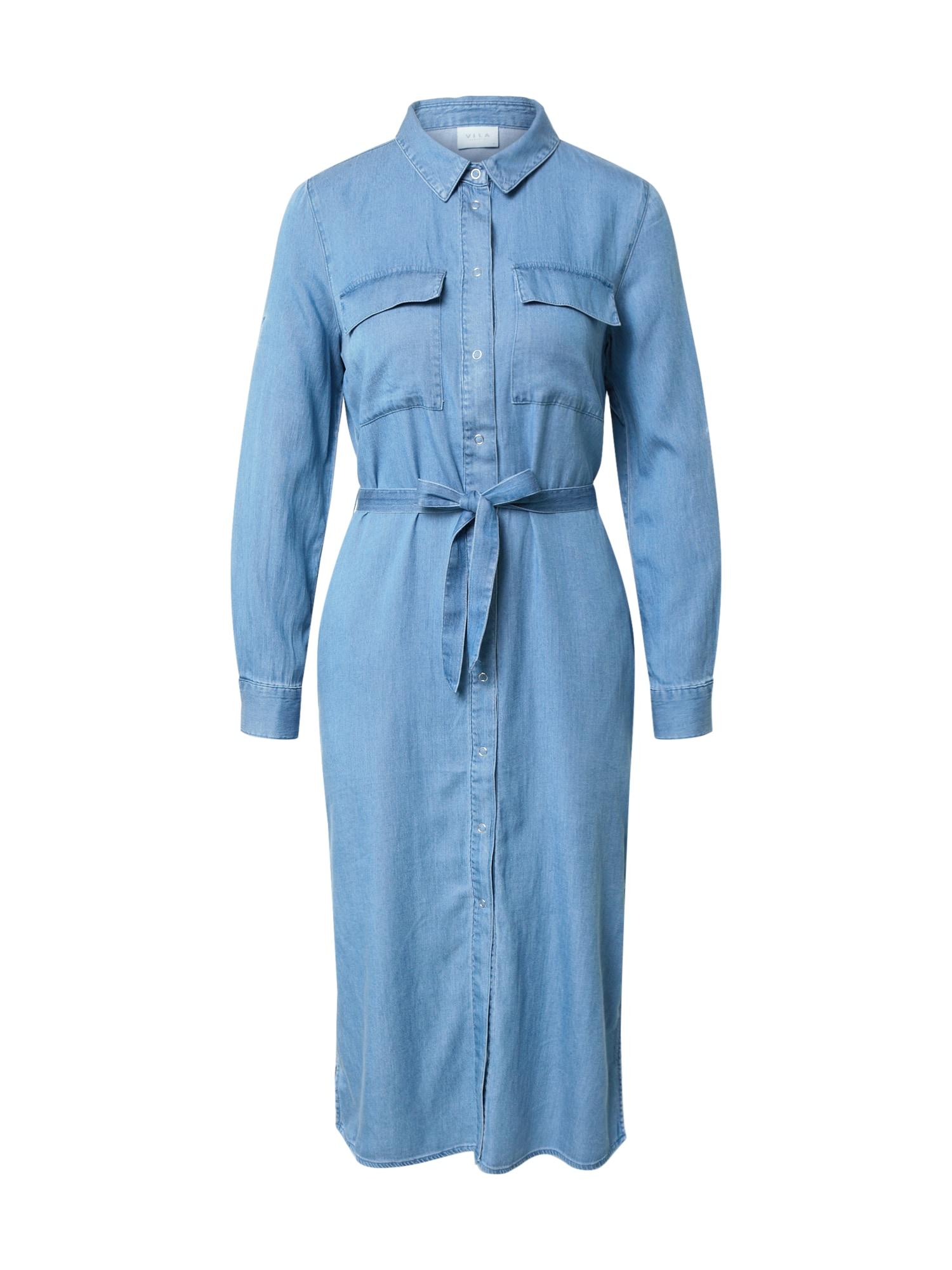 VILA Košilové šaty 'MAKENNA'  modrá džínovina