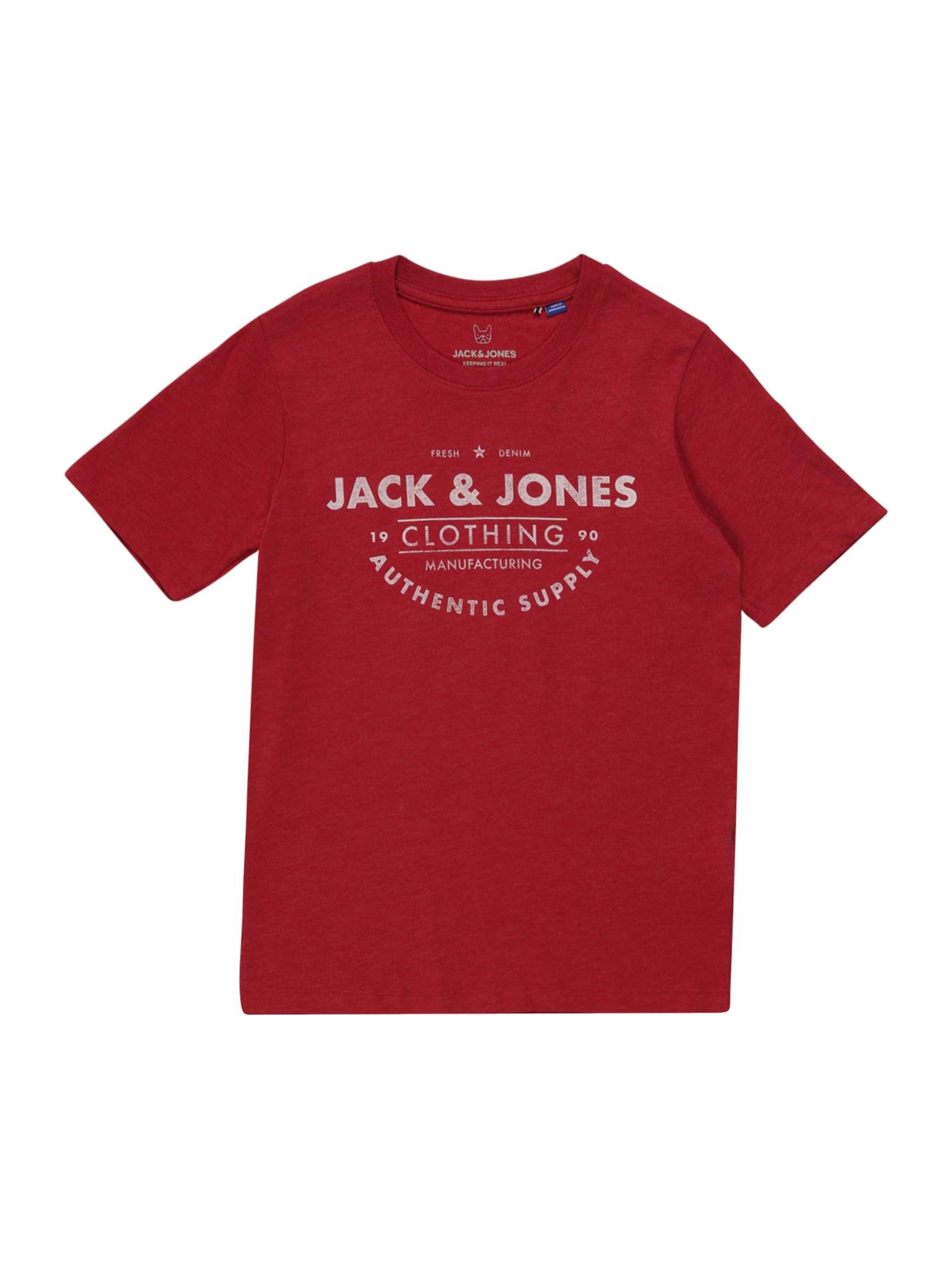 Jack & Jones Junior Marškinėliai 'JJEJEANS TEE SS CREW NECK NOOS JR' raudona