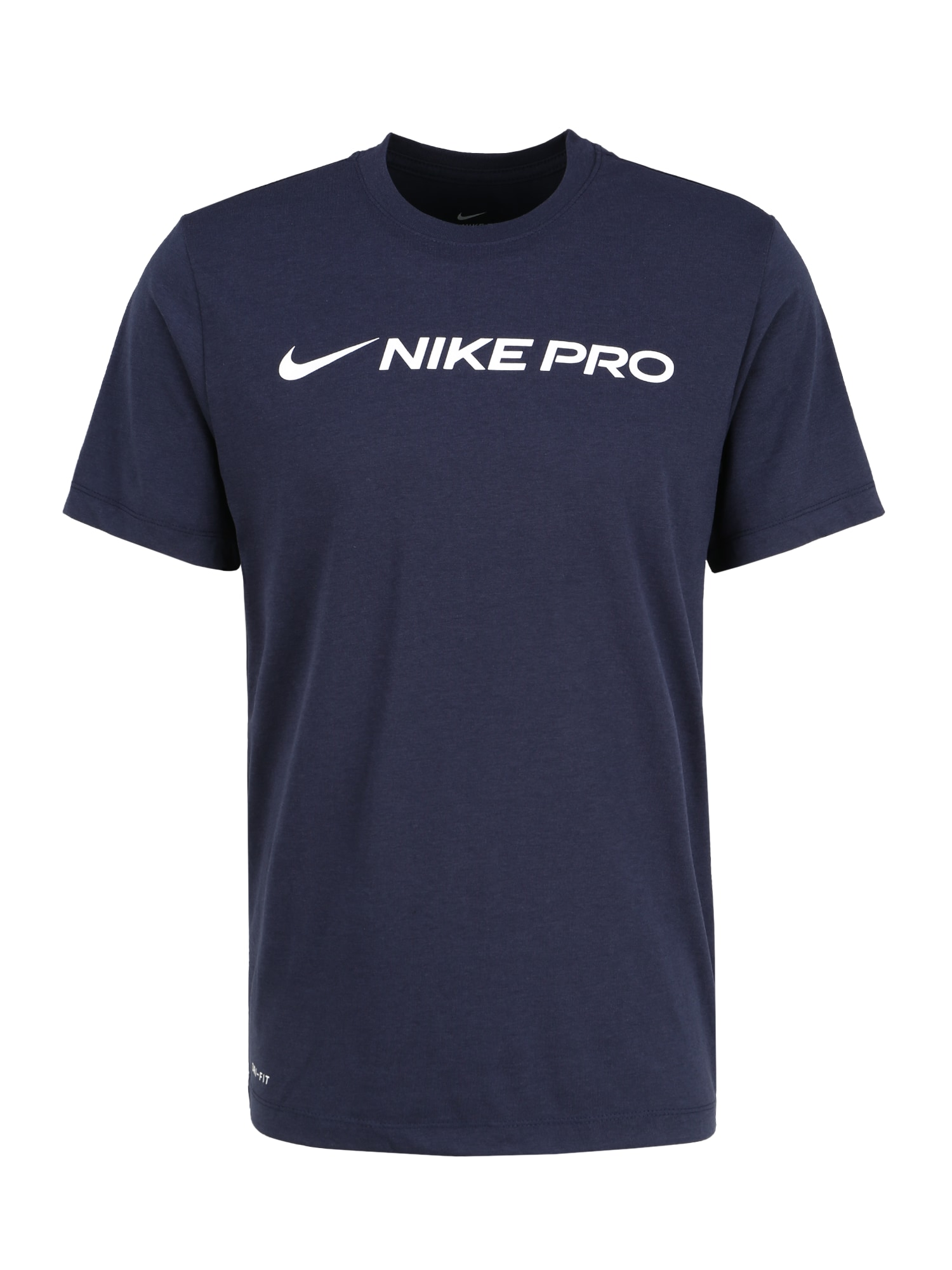 NIKE Sportiniai marškinėliai juoda / mėlyna