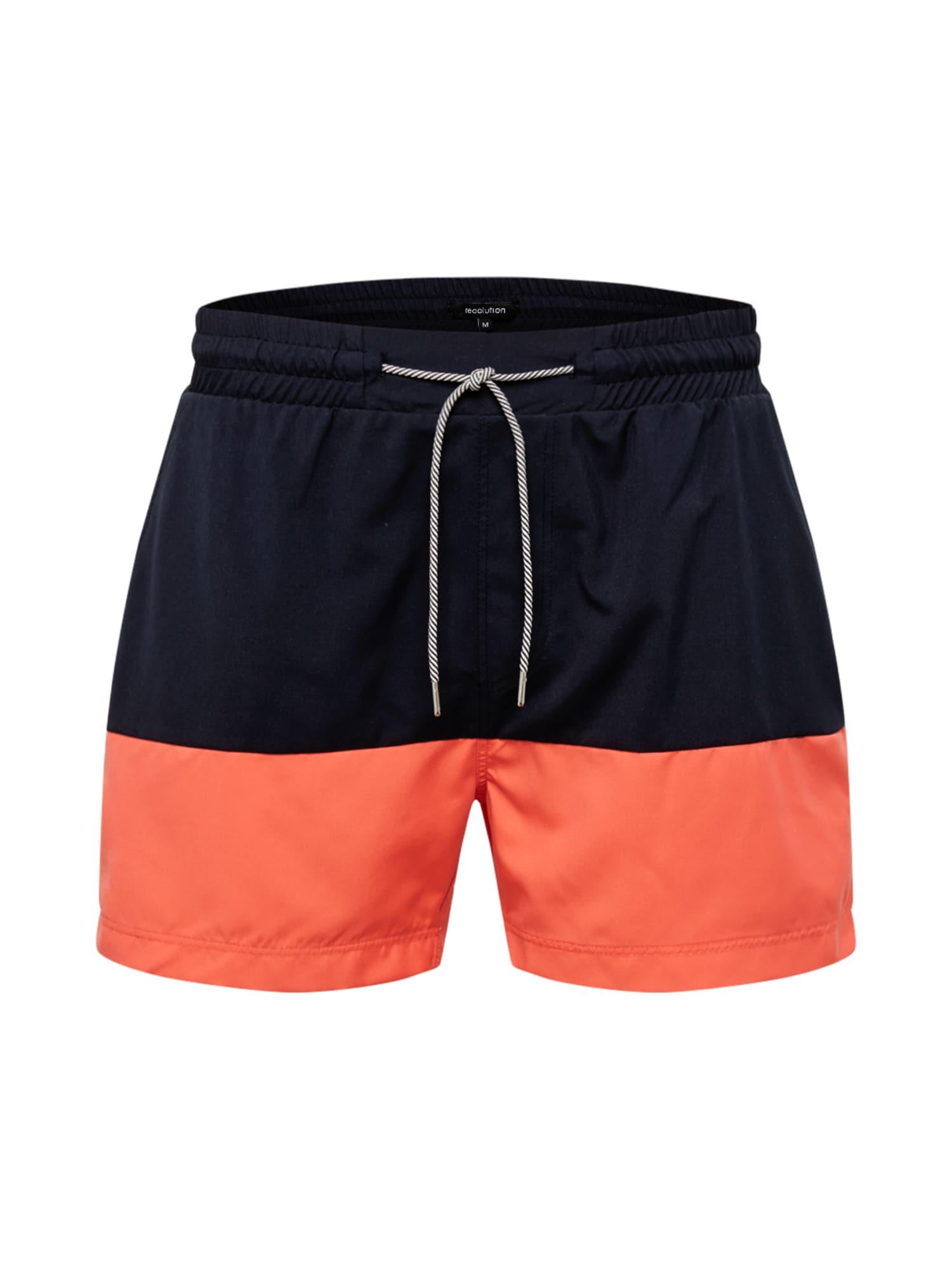recolution Maudymosi trumpikės tamsiai mėlyna / oranžinė