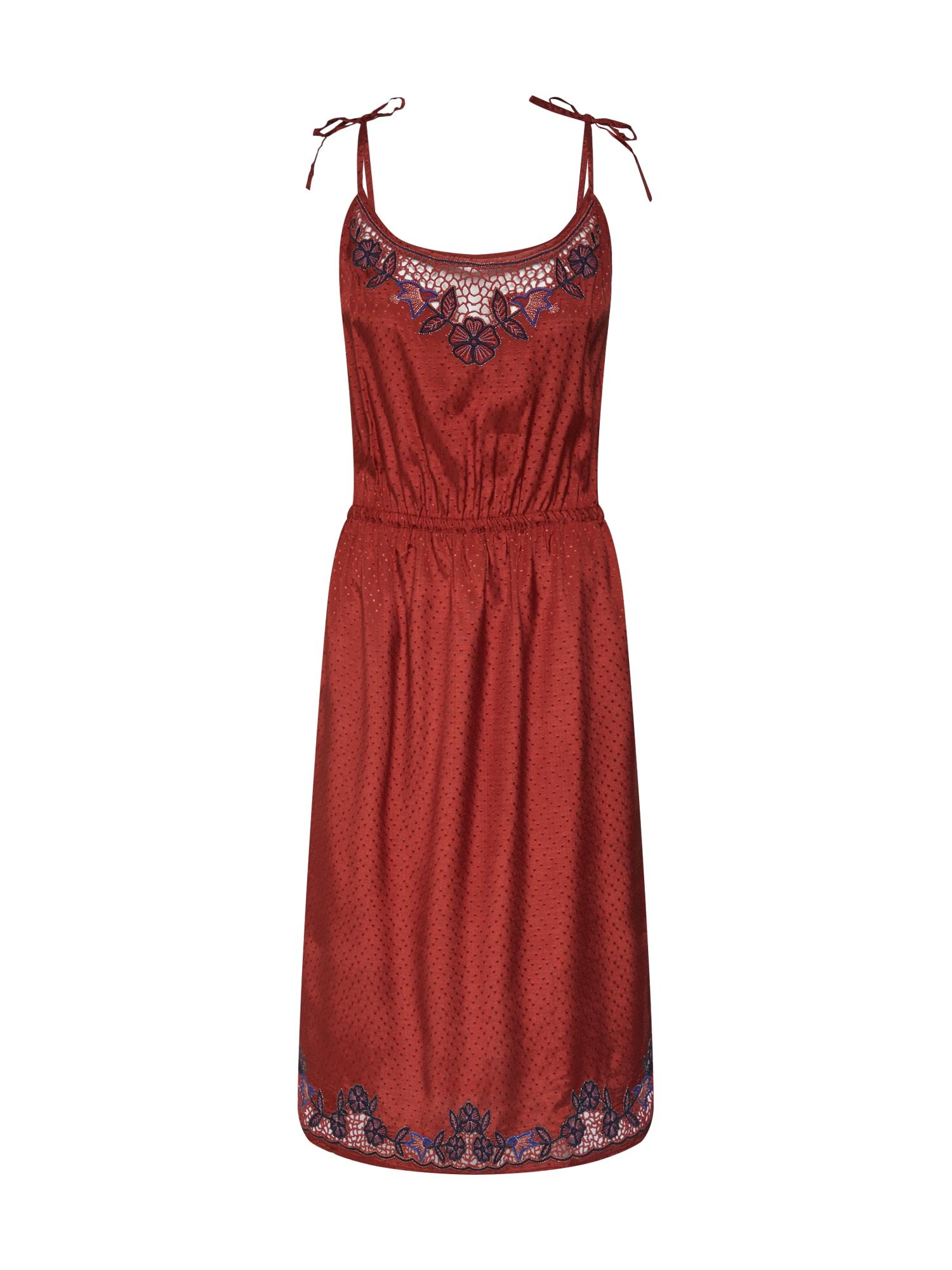 Letní šaty oranžově červená Sessun