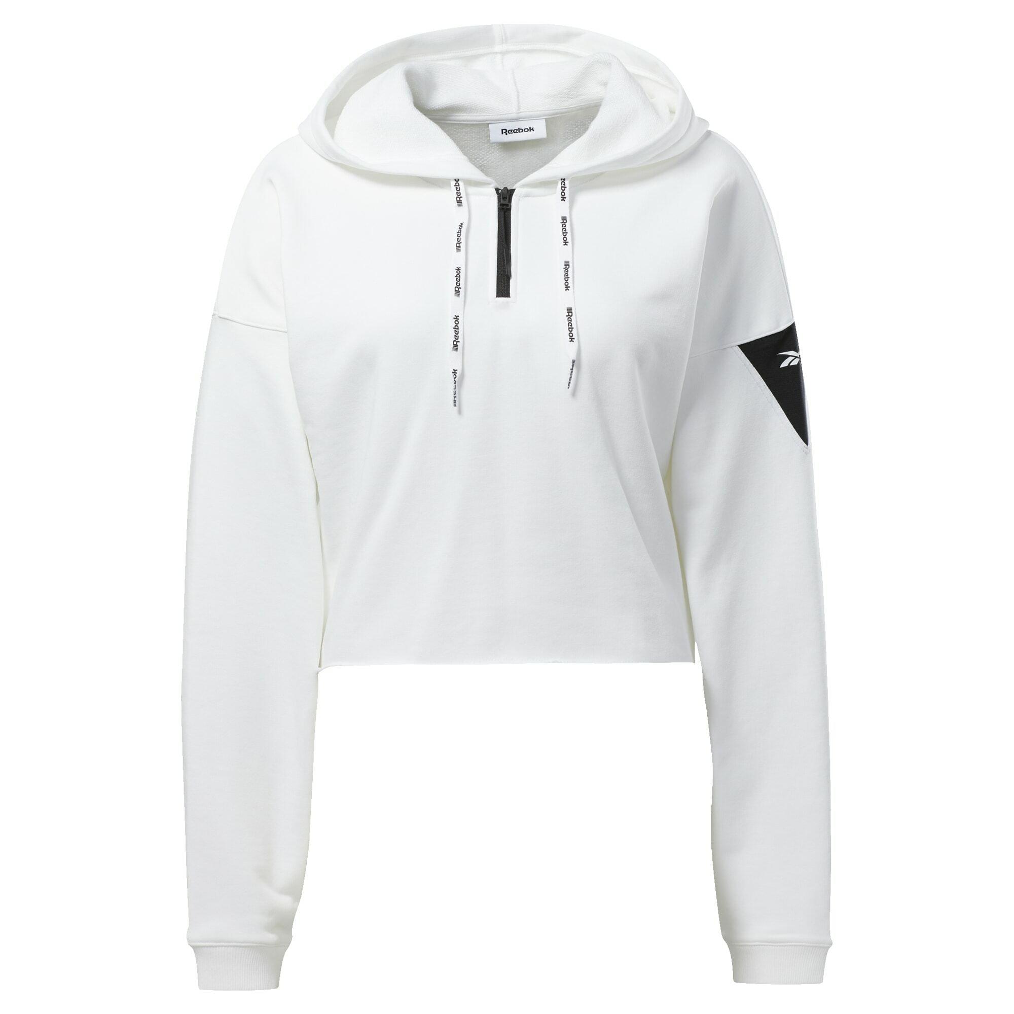 REEBOK Sportinio tipo megztinis juoda / balta