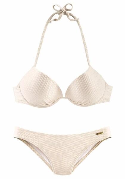 Bademode - Push up Bikini › Bruno Banani › creme  - Onlineshop ABOUT YOU
