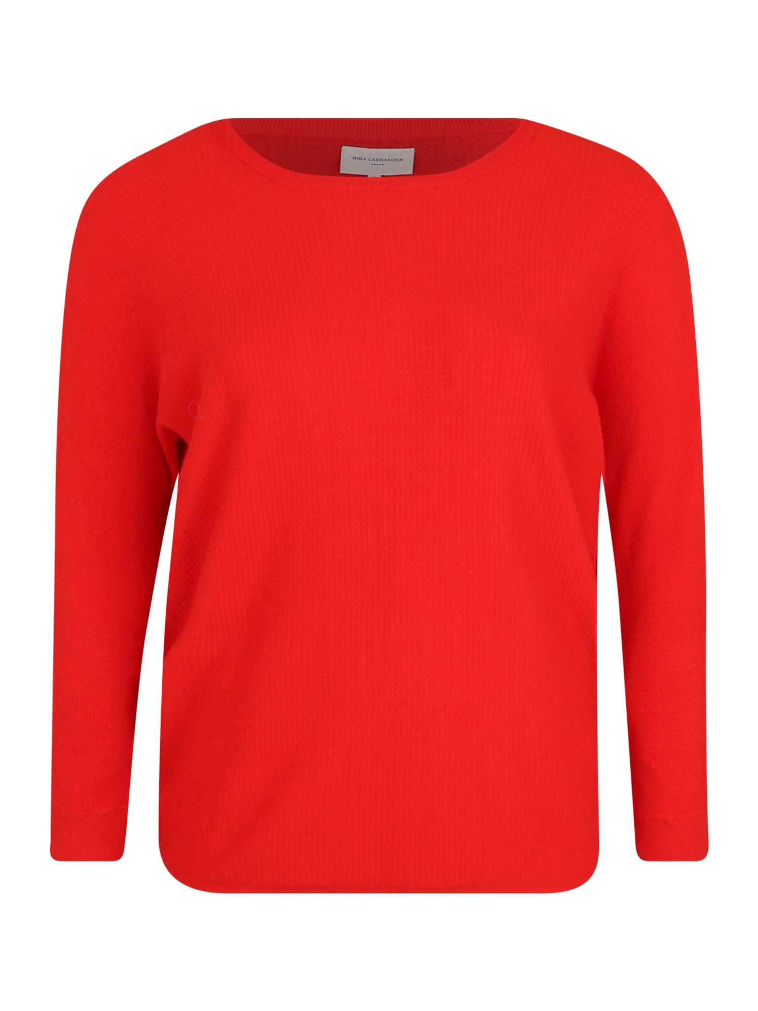 ONLY Carmakoma Megztinis raudona