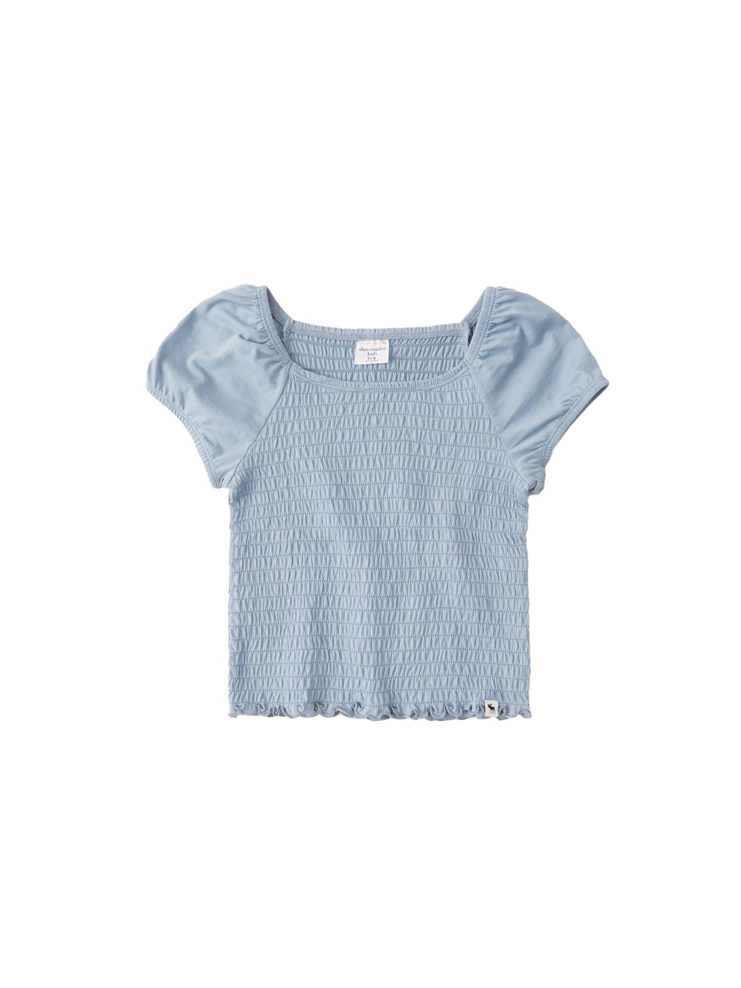 Abercrombie & Fitch Marškinėliai mėlyna dūmų spalva