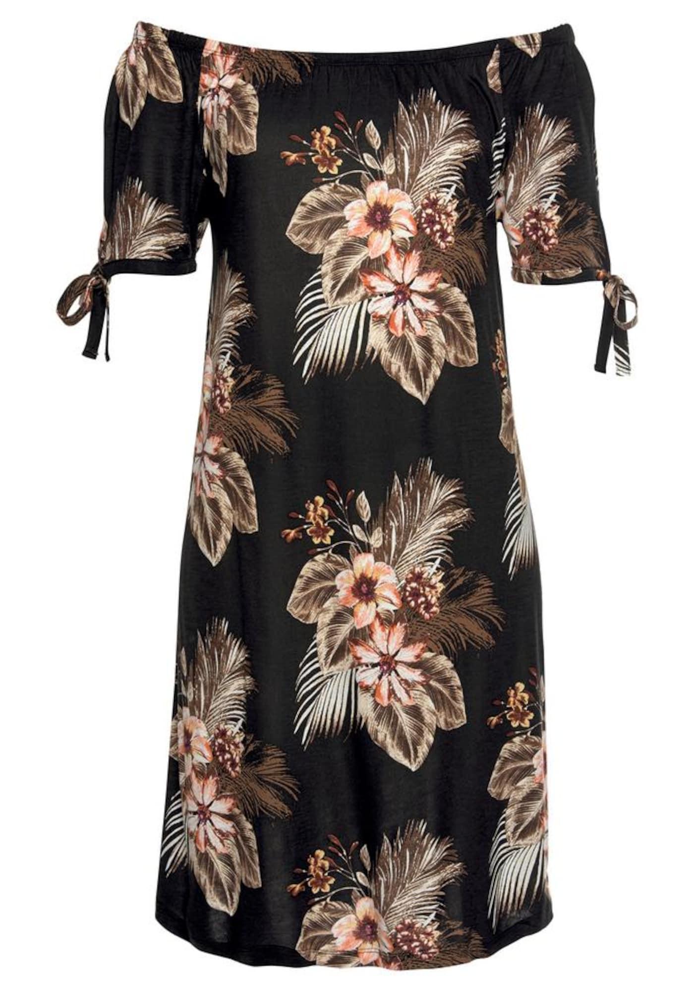 BEACH TIME Paplūdimio suknelė gelsvai pilka spalva / ruda / rusva / juoda