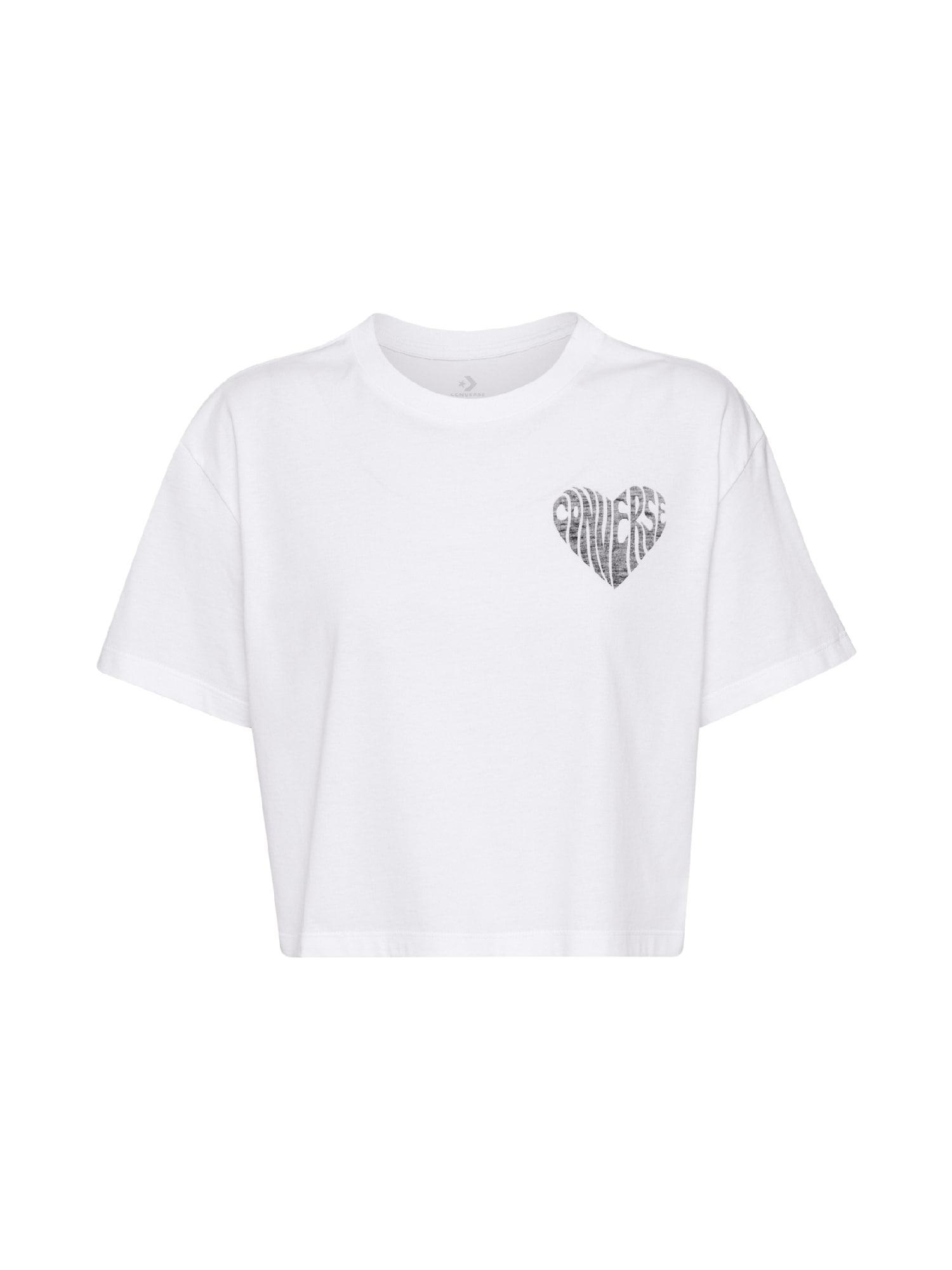 CONVERSE Marškinėliai balta / pilka