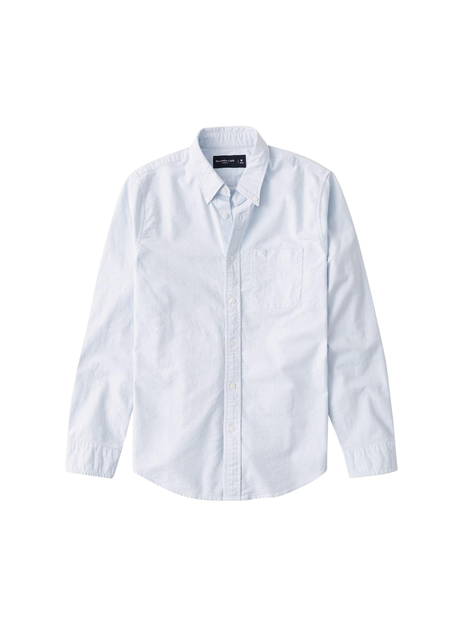 Abercrombie & Fitch Dalykiniai marškiniai mėlyna