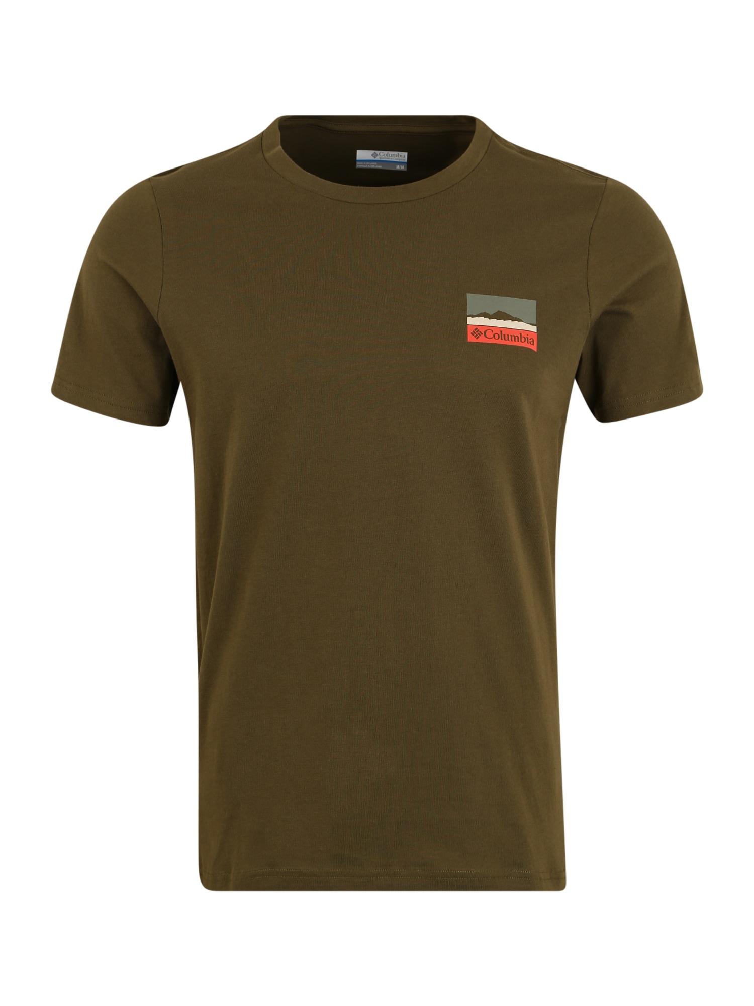 COLUMBIA Sportiniai marškinėliai 'Rapid Ridge' alyvuogių spalva