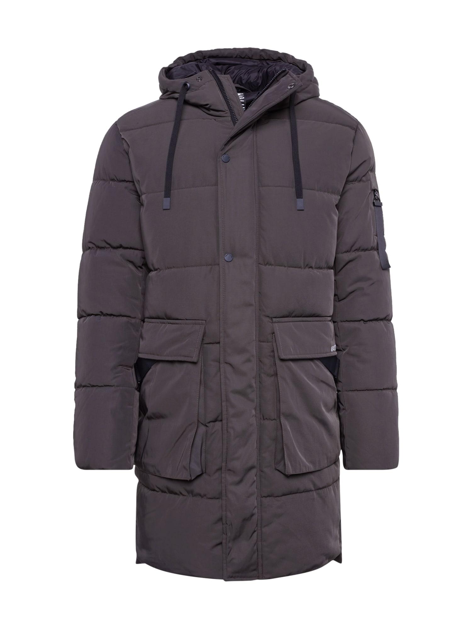 FREAKY NATION Žieminis paltas 'Cold and Windy' alyvuogių spalva