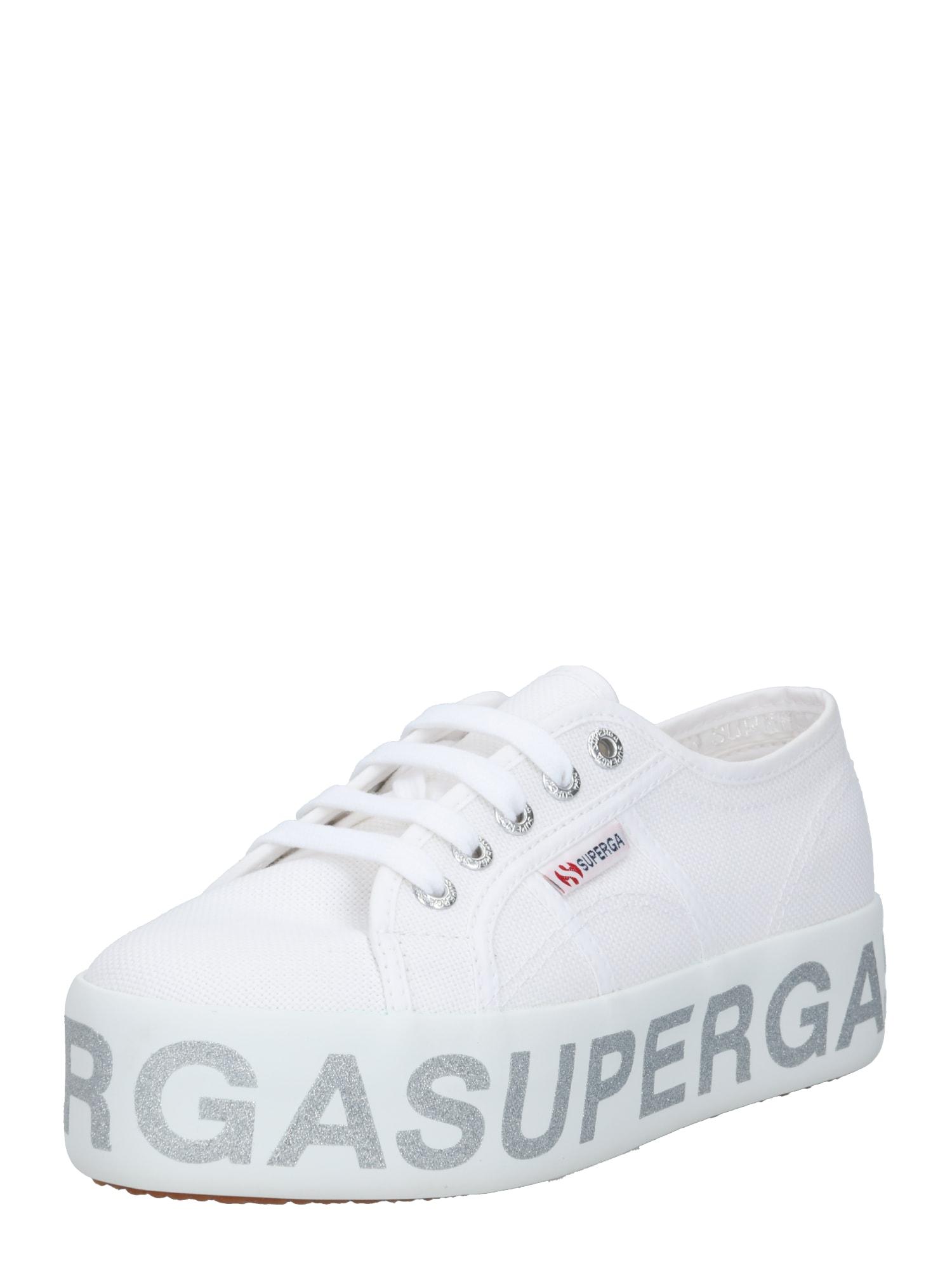 SUPERGA Sportbačiai be auliuko balta / sidabrinė