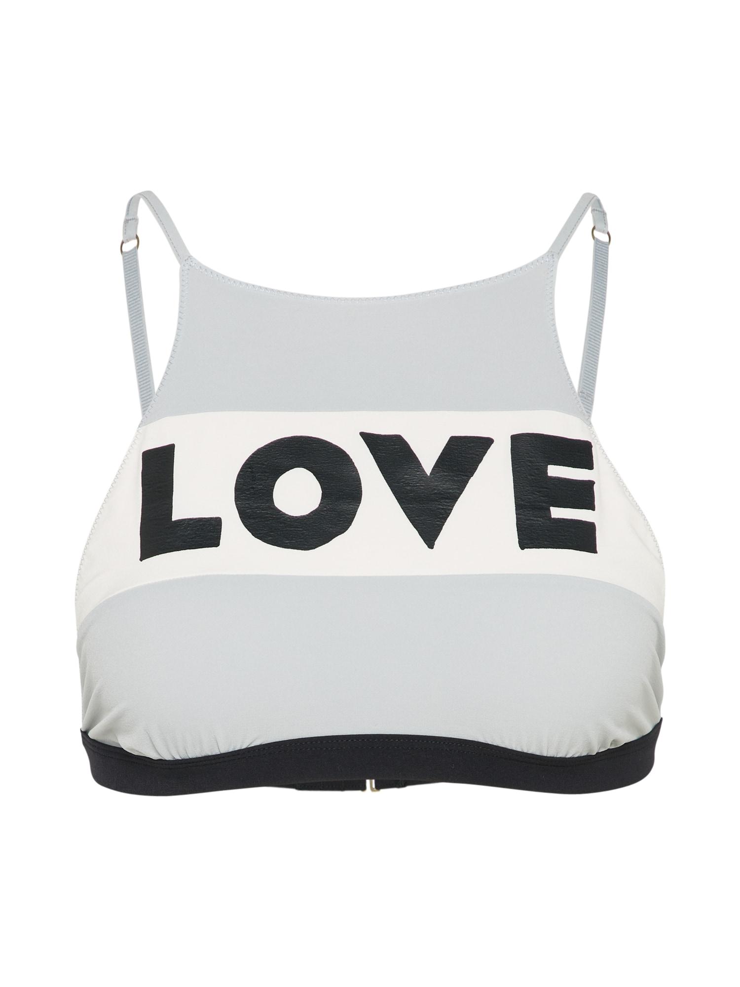 Horní díl plavek Mermaid Bra Bralette šedá černá bílá LOVE Stories
