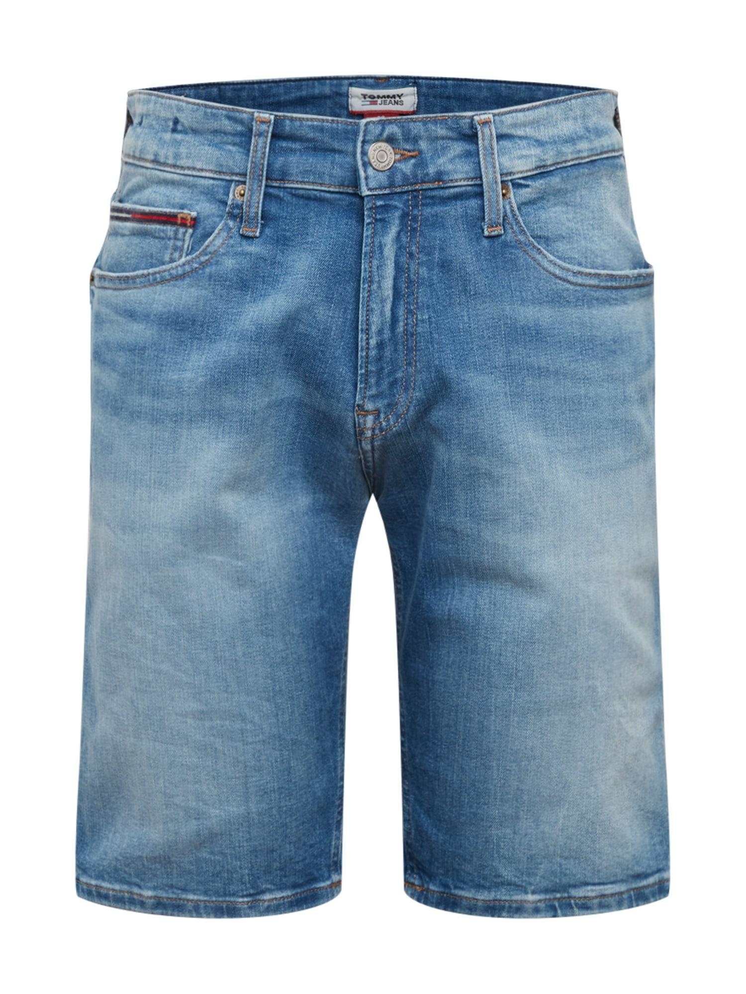 Tommy Jeans Džinsai 'SCANTON SLIM SHORT CRTMD' tamsiai (džinso) mėlyna