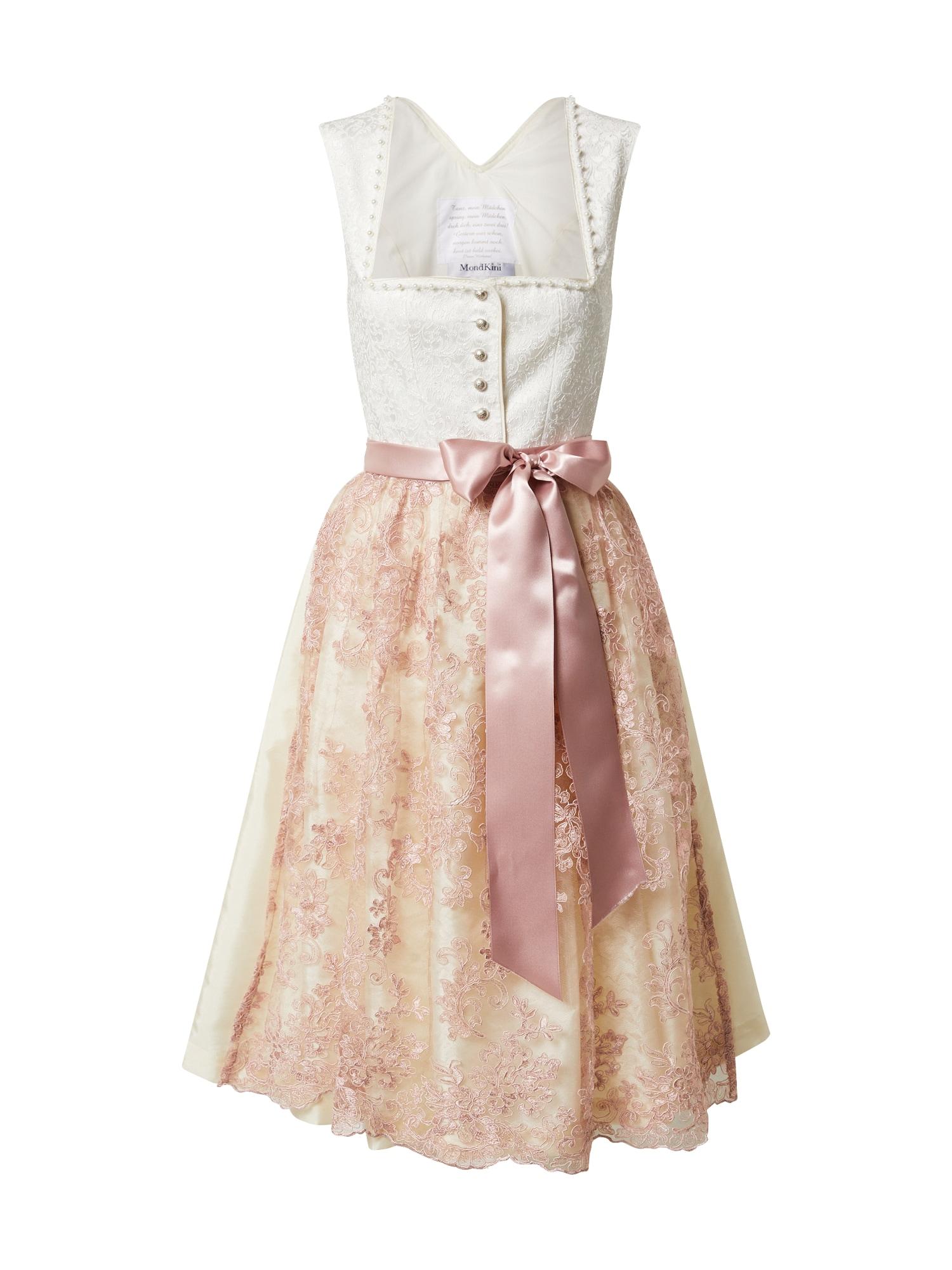 MONDKINI Dirndlis ryškiai rožinė spalva / balkšva
