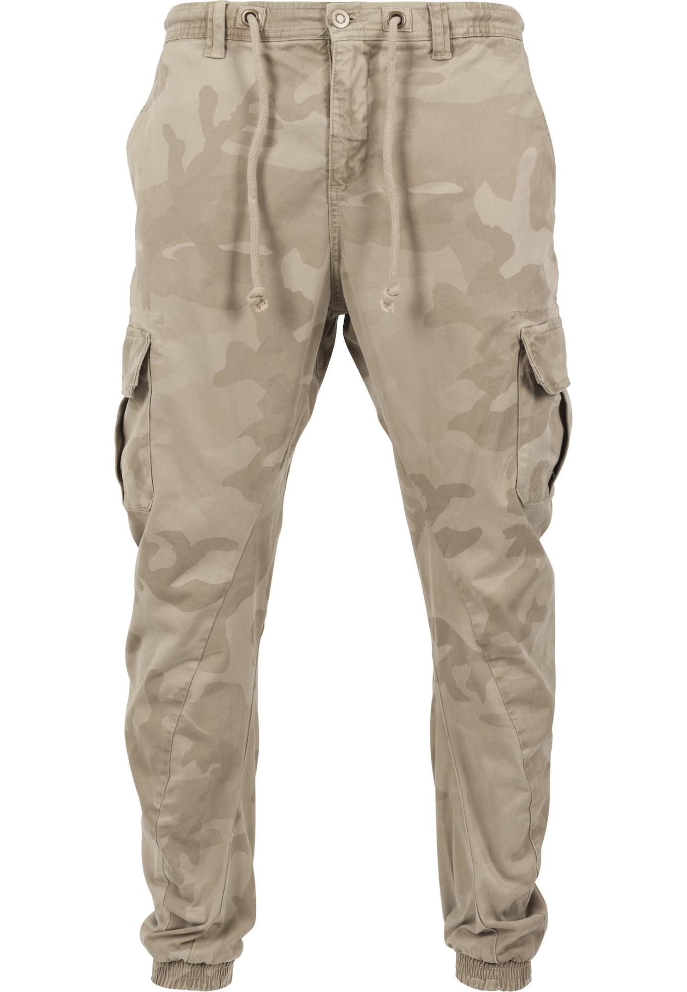 Urban Classics Laisvo stiliaus kelnės smėlio / smėlio / gelsvai pilka spalva