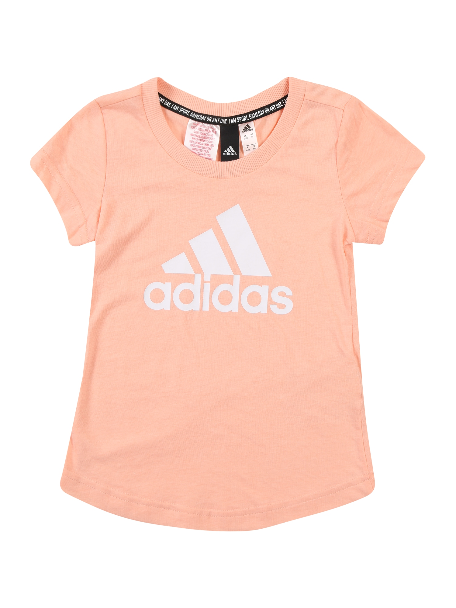 ADIDAS PERFORMANCE Funkčné tričko 'Must Have Batch Of Sport'  biela / staroružová / marhuľová