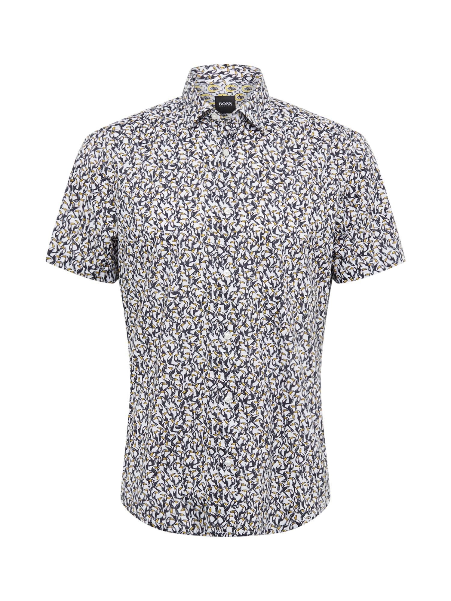 BOSS Dalykiniai marškiniai 'Rash' balta / mėlyna
