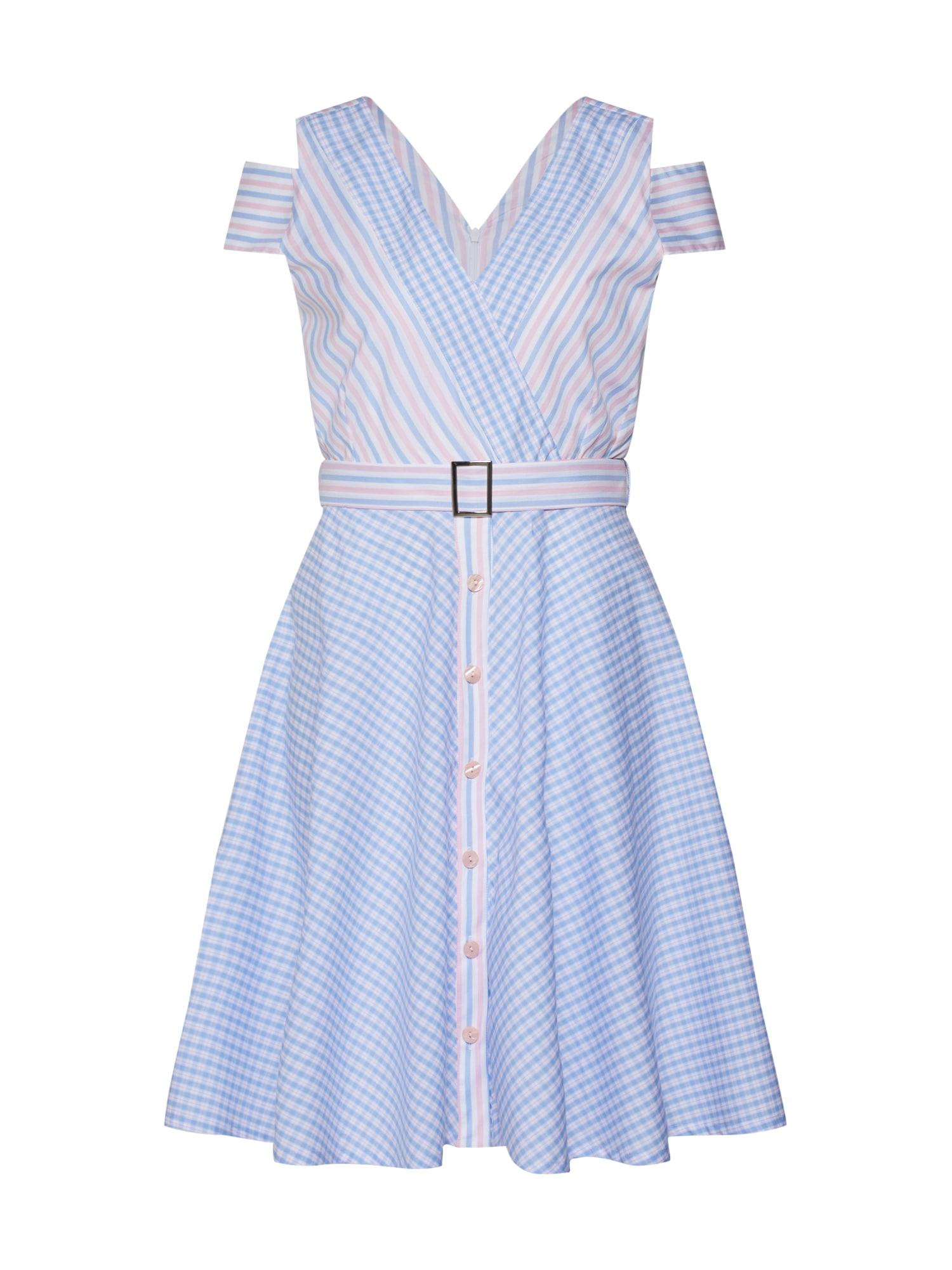 Letní šaty POPLIN světlemodrá růžová La Martina