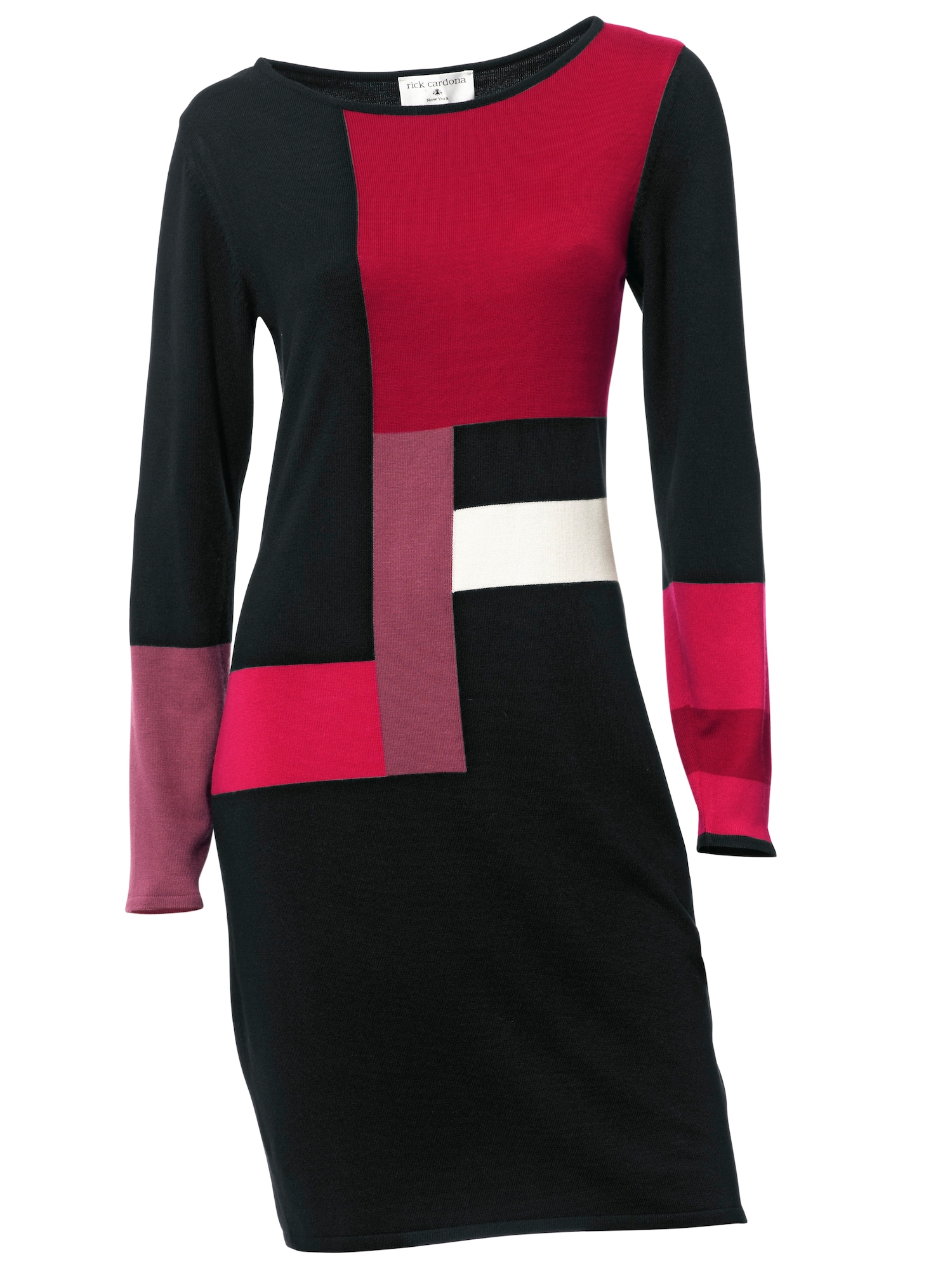 heine Megzta suknelė juoda / raudona