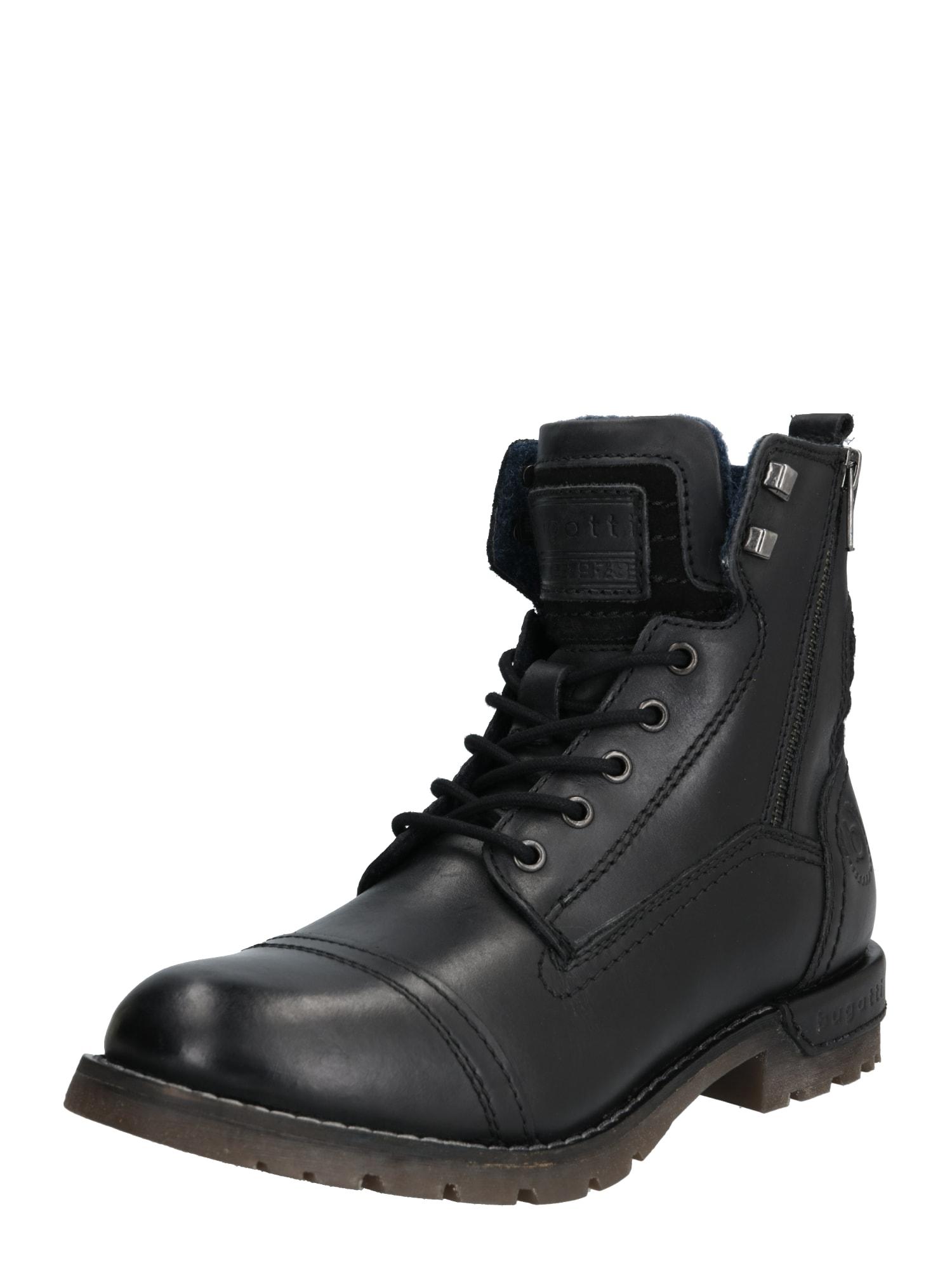 bugatti Auliniai batai su kulniuku 'Sentra' juoda